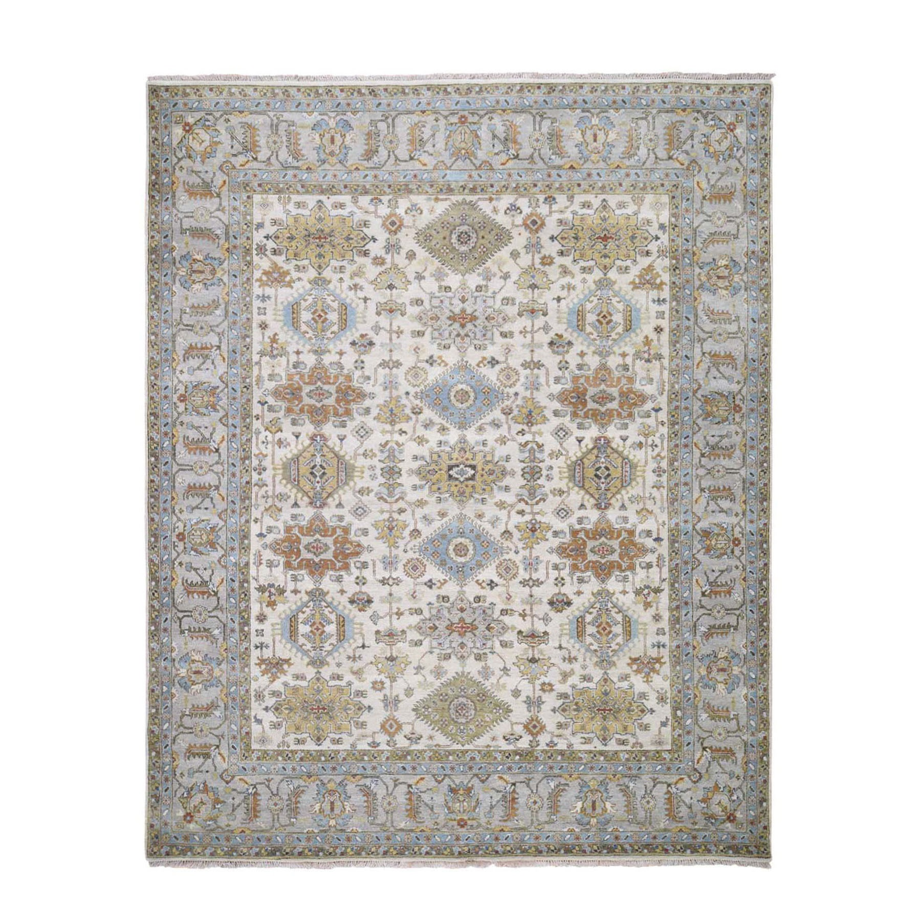 Serapi Heriz and Bakhshayesh Collection Hand Knotted Ivory Rug No: 1118056