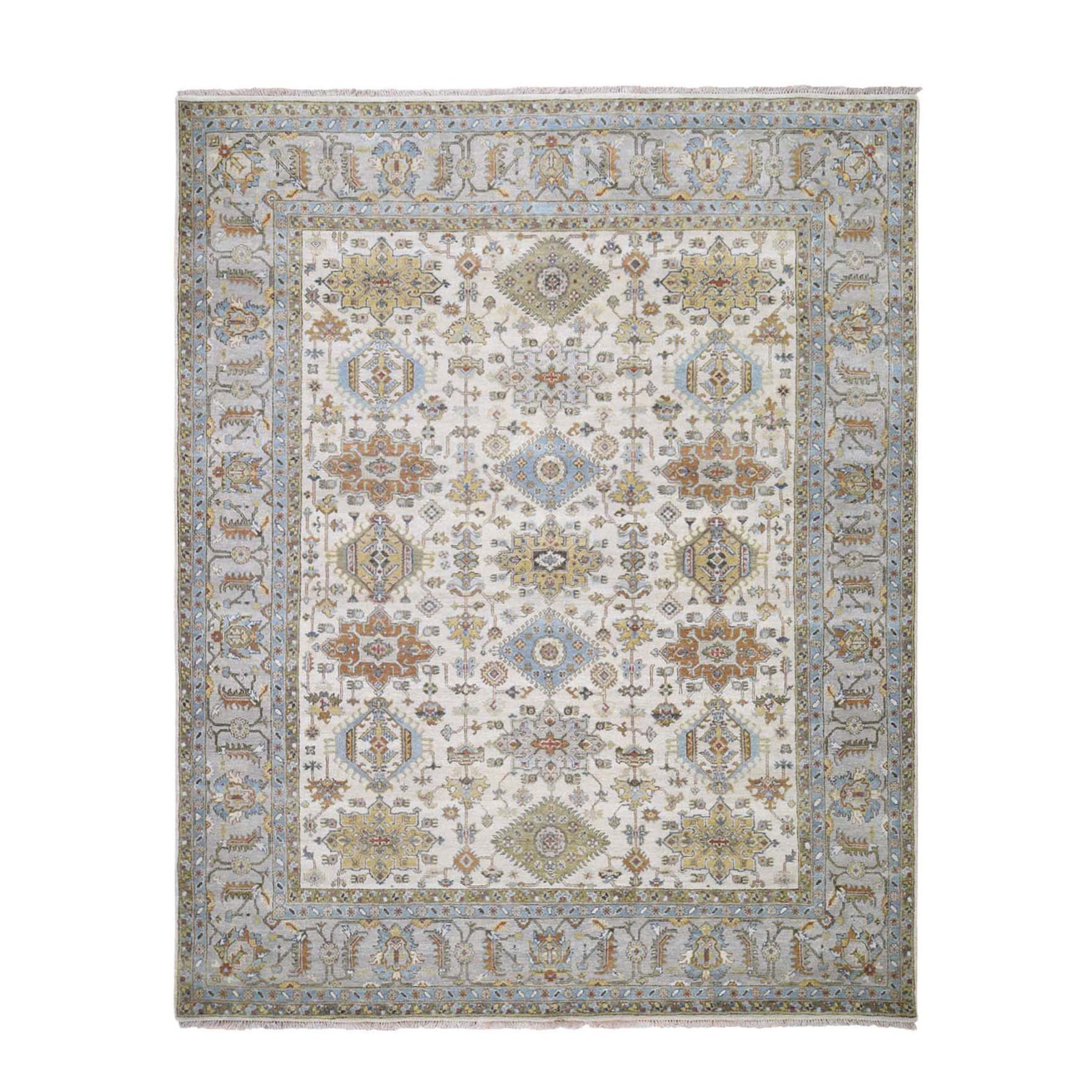Serapi Heriz and Bakhshayesh Collection Hand Knotted Ivory Rug No: 1118058