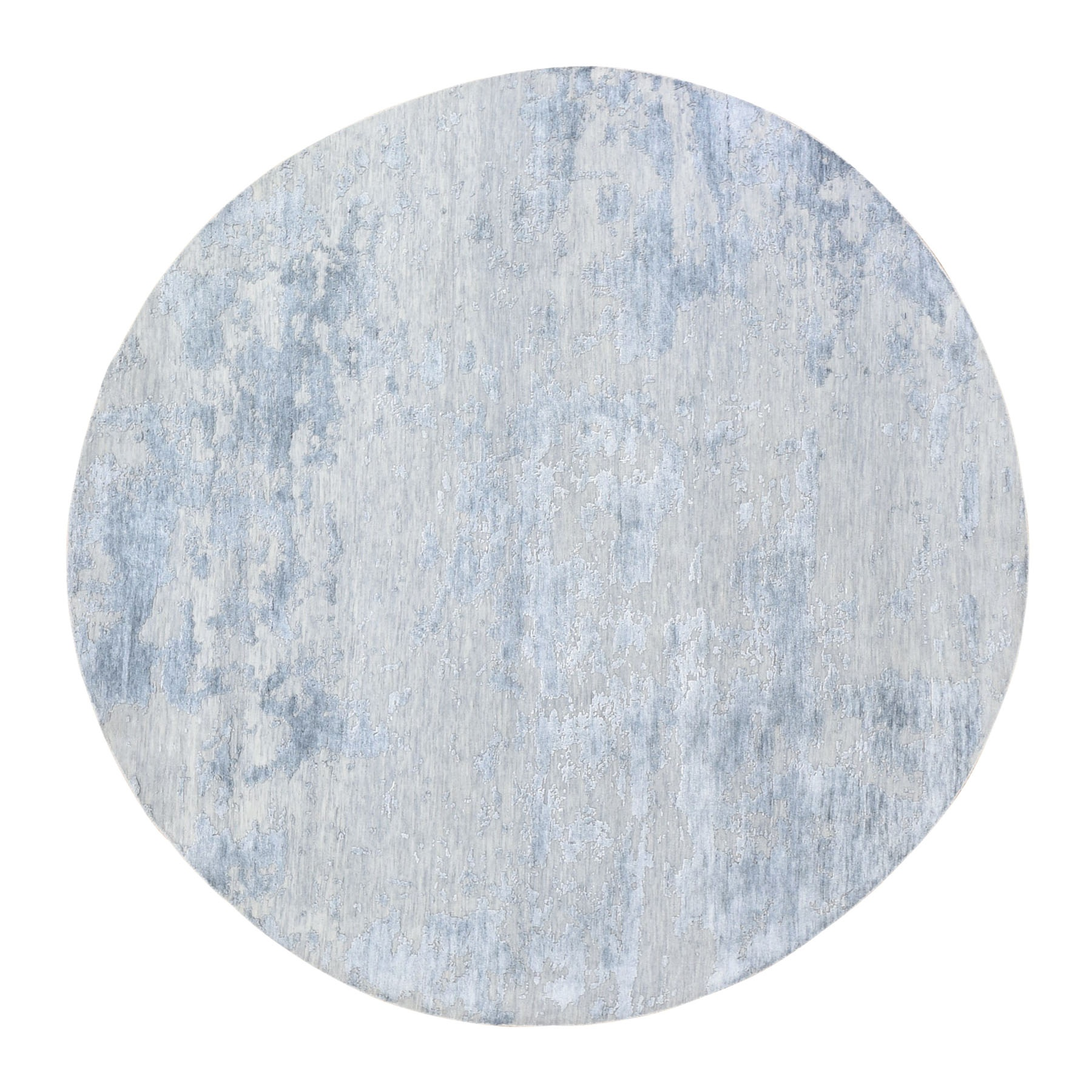 Mid Century Modern Collection Hand Knotted Grey Rug No: 01118106