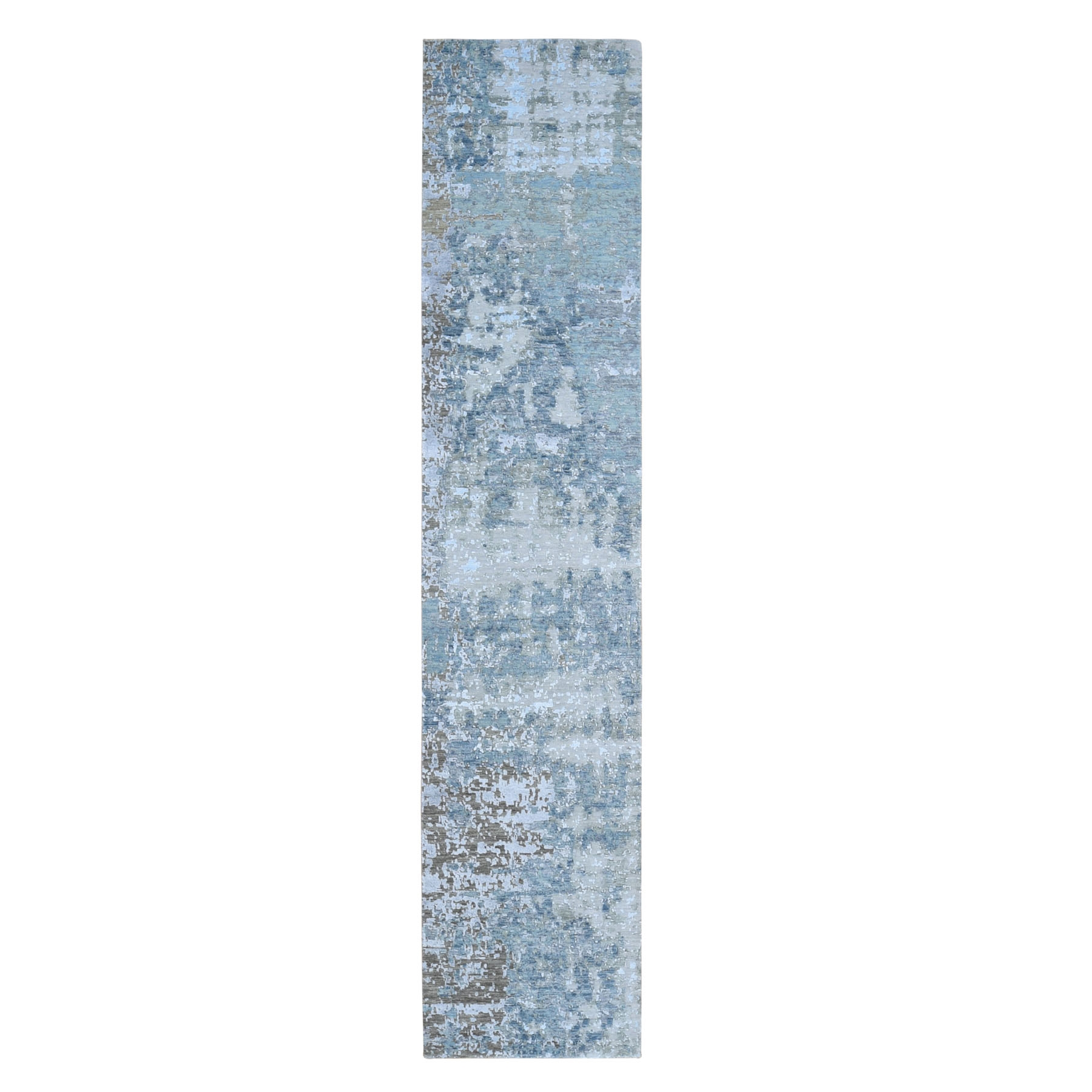 Mid Century Modern Collection Hand Knotted Grey Rug No: 01118150