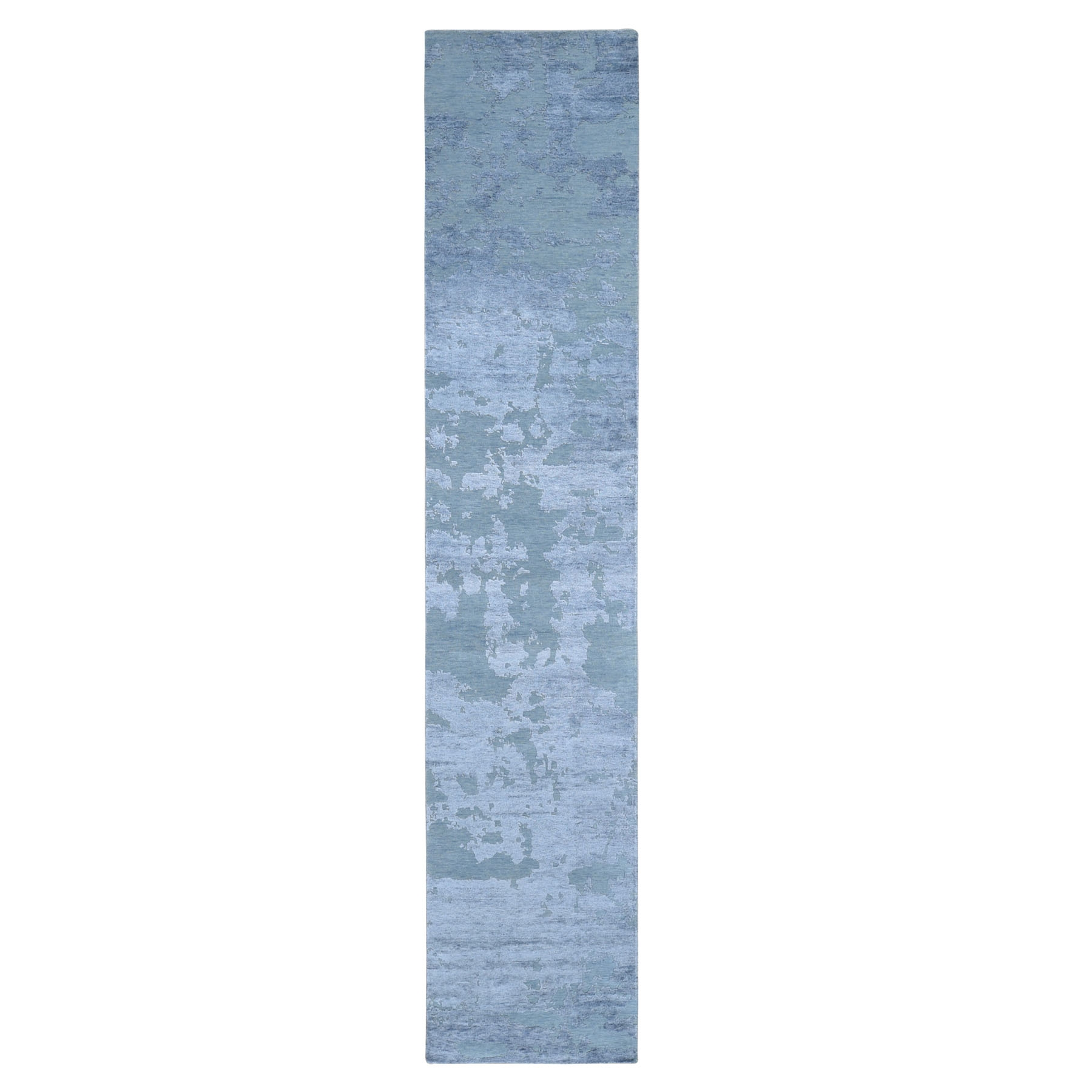 Mid Century Modern Collection Hand Knotted Grey Rug No: 01118152