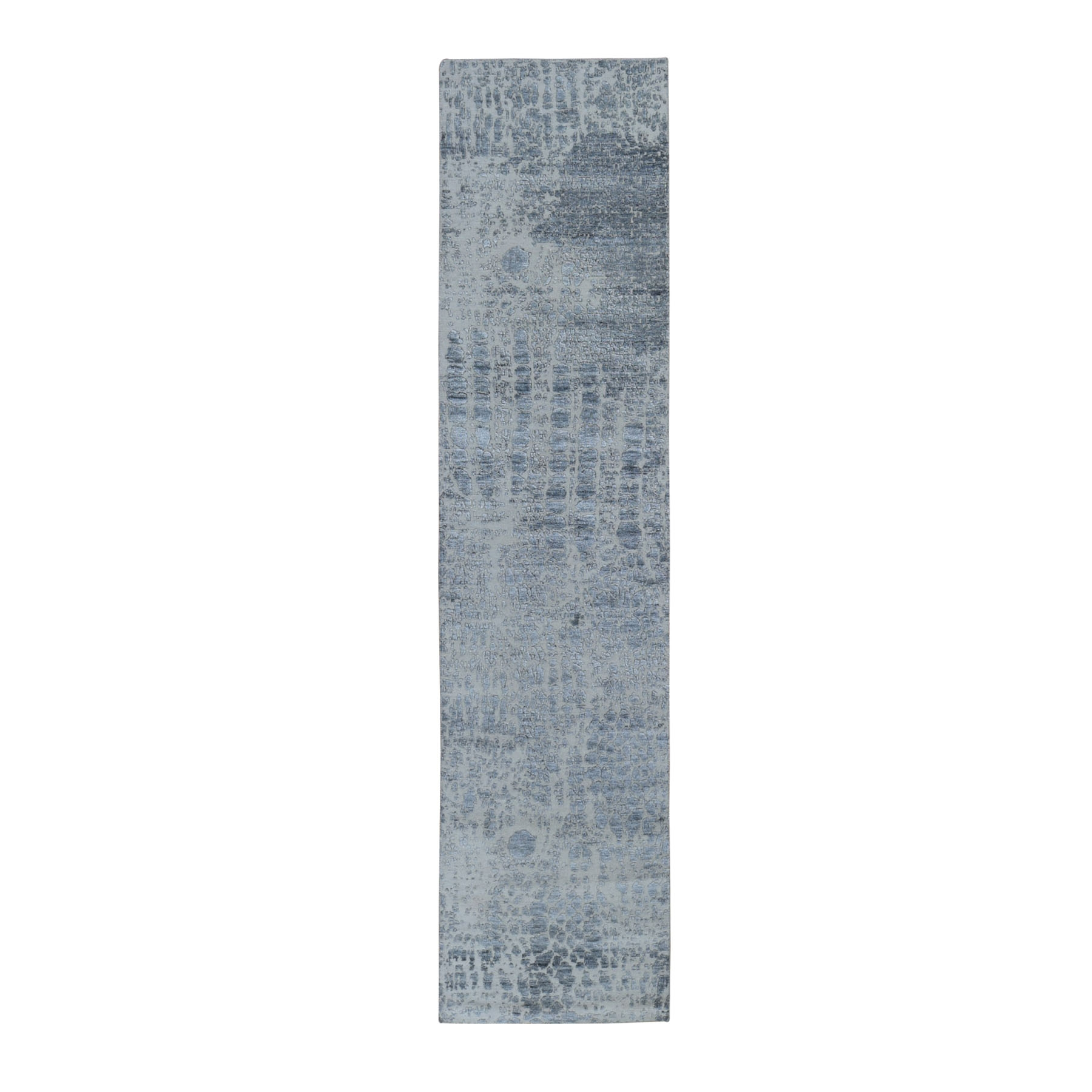 Mid Century Modern Collection Hand Knotted Grey Rug No: 01118160