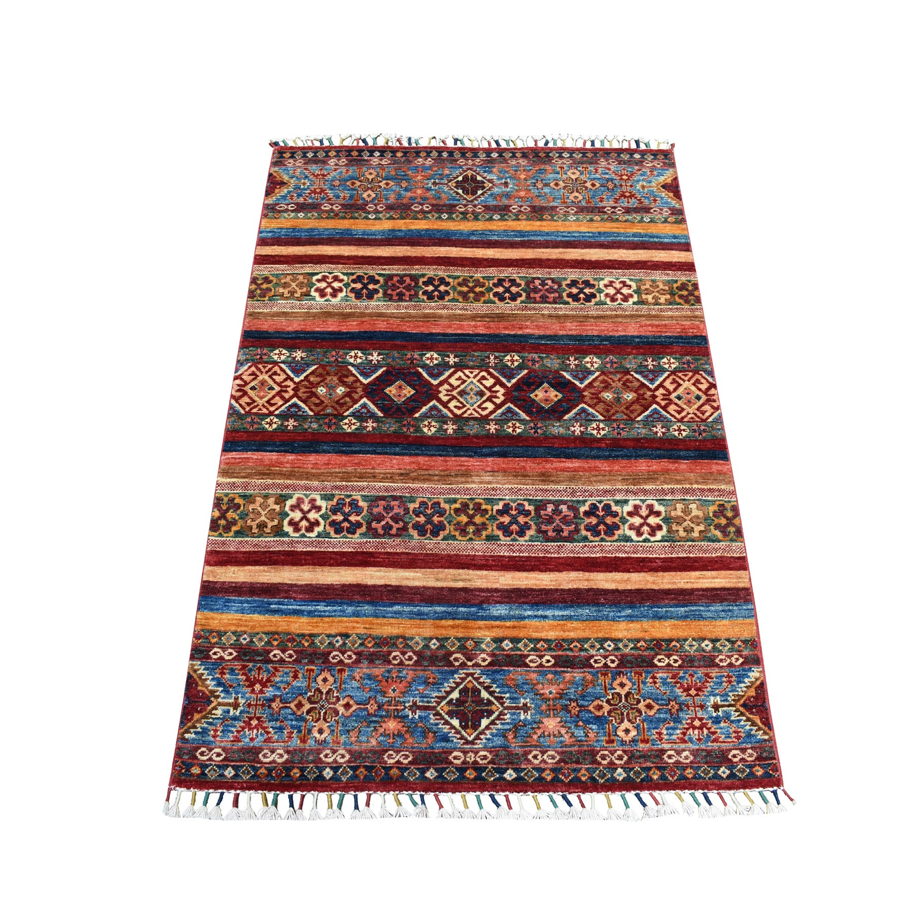 Caucasian Collection Hand Knotted Multicolored Rug No: 1104480