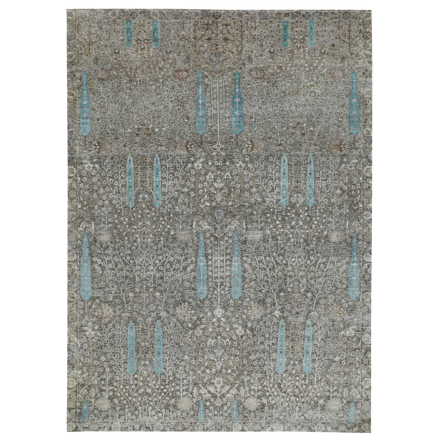 Transitional Hand Knotted Brown Rug No: 1116314