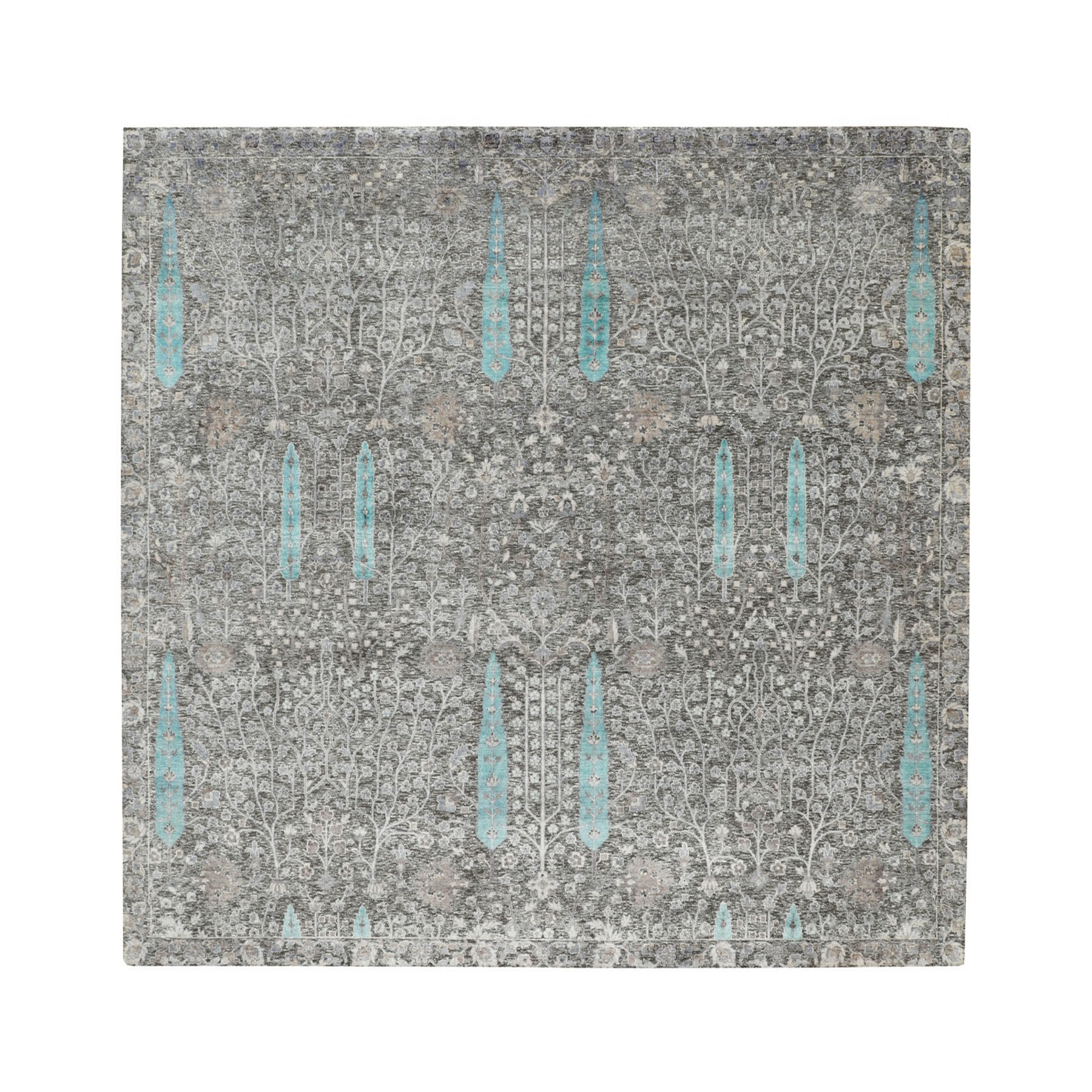 Transitional Hand Knotted Brown Rug No: 1116320