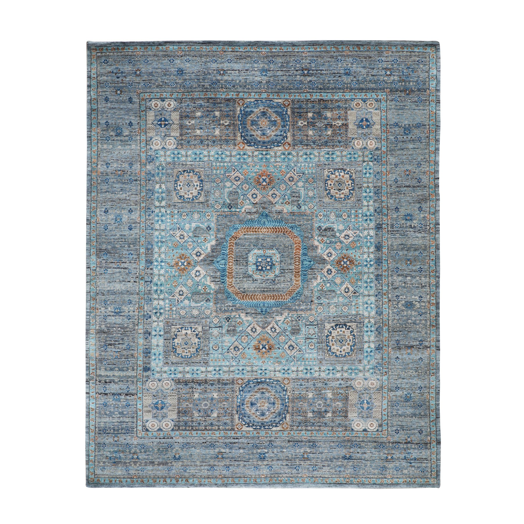 Intricate Collection Hand Knotted Blue Rug No: 1116406