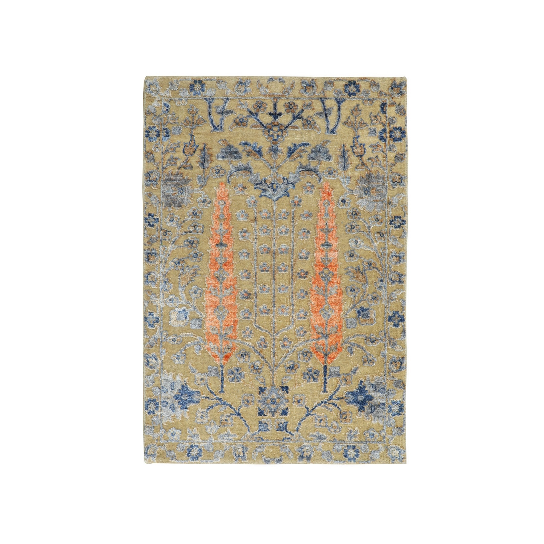 Transitional Hand Knotted Beige Rug No: 01116354