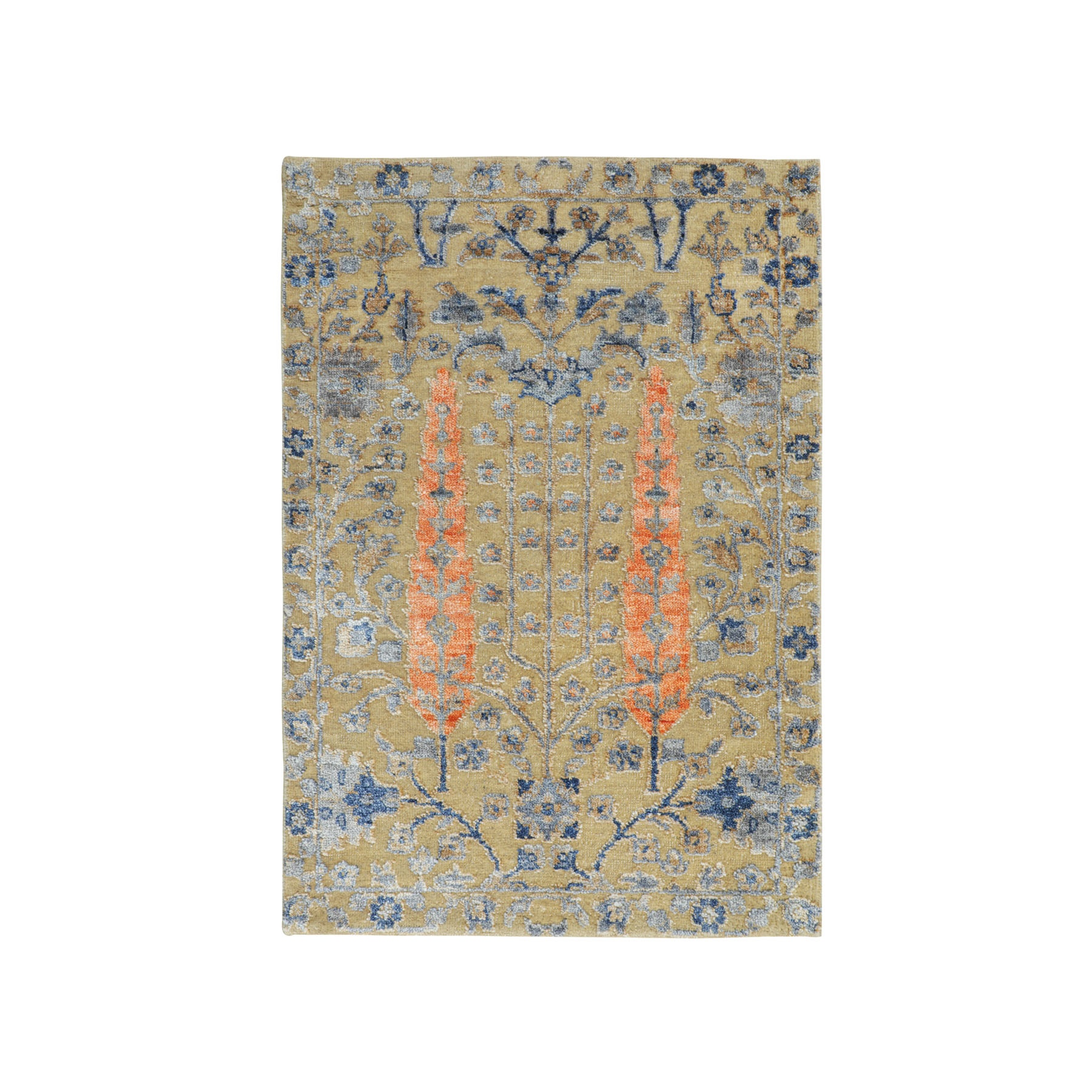Transitional Hand Knotted Beige Rug No: 01116380