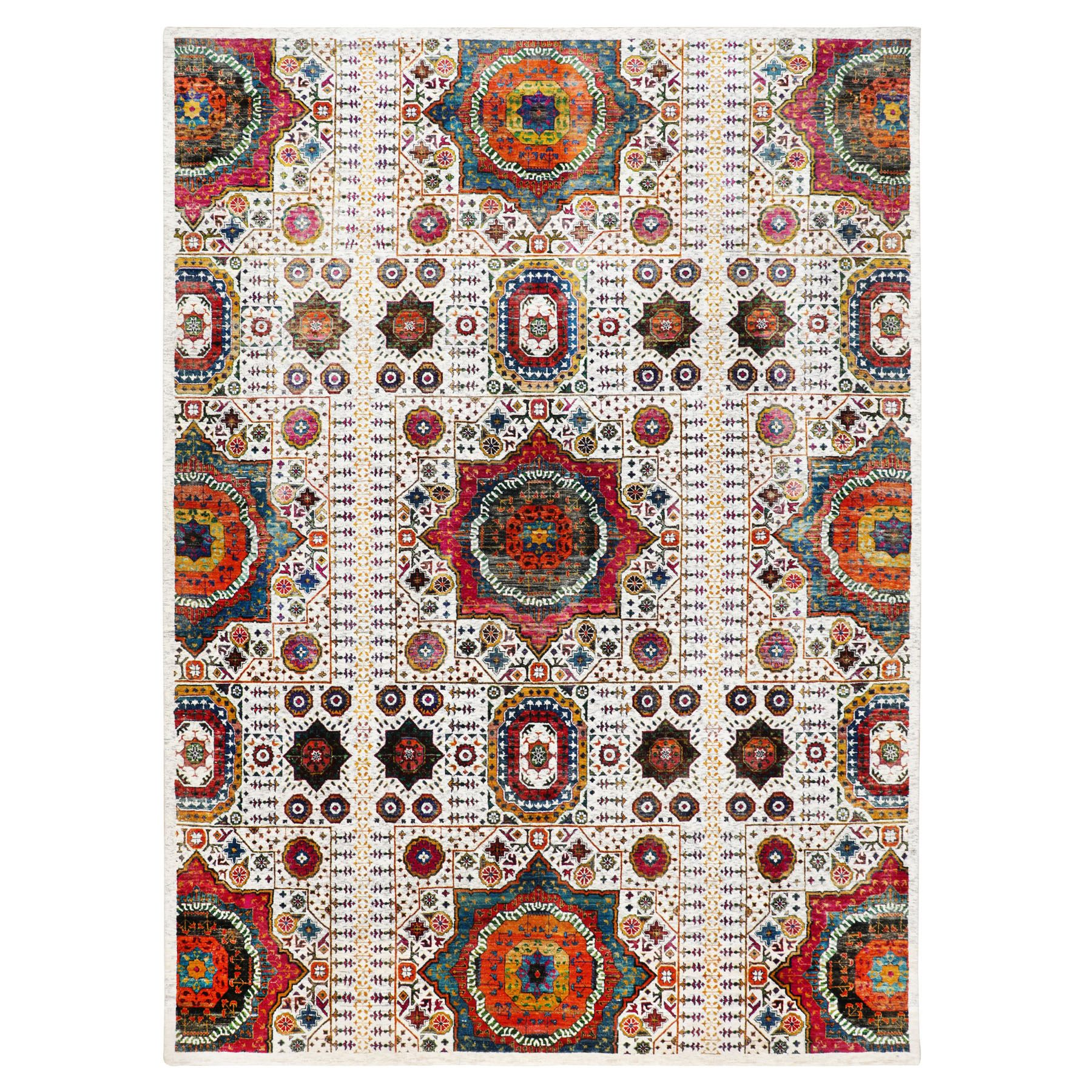 Transitional Hand Knotted Ivory Rug No: 1116440