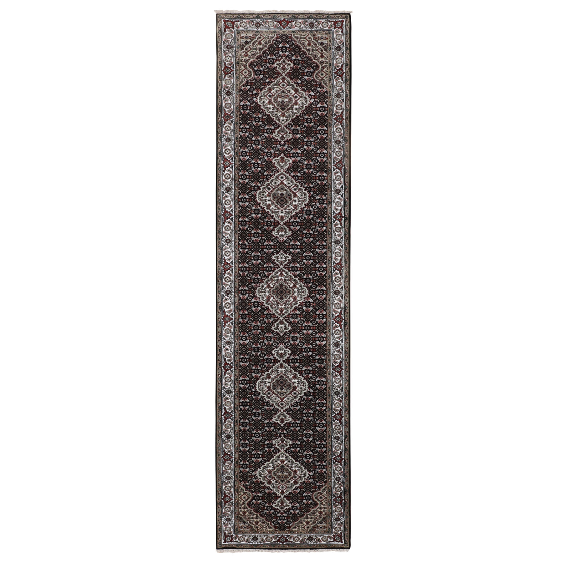 Pirniakan Collection Hand Knotted Black Rug No: 1116604