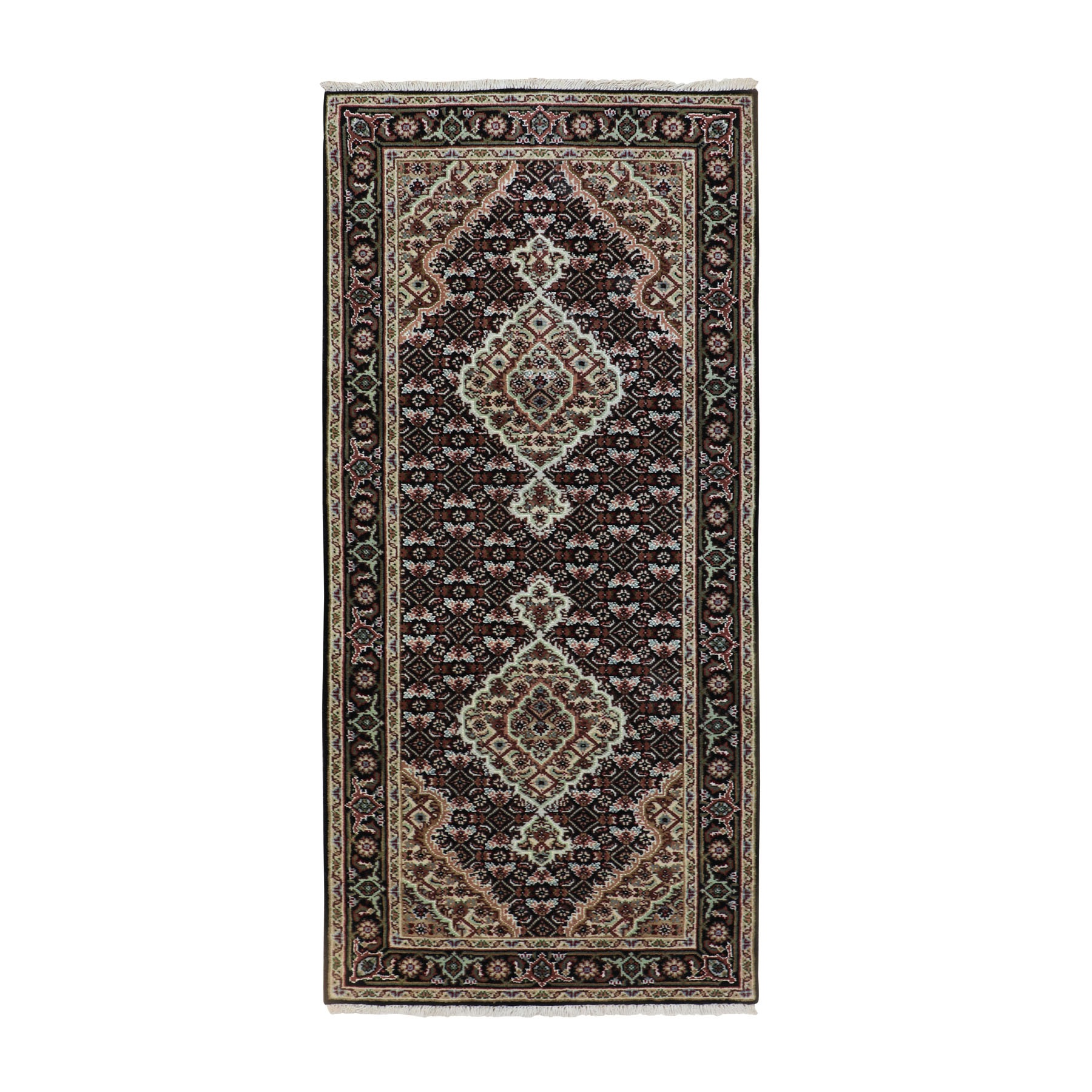 Pirniakan Collection Hand Knotted Black Rug No: 01116612