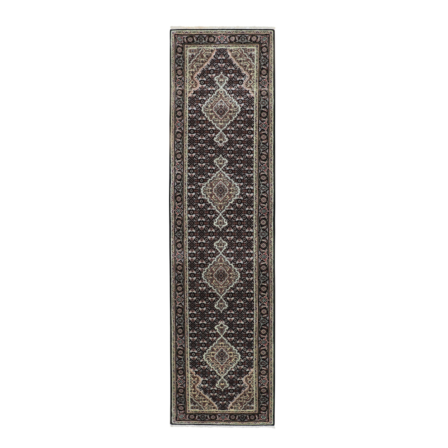 Pirniakan Collection Hand Knotted Black Rug No: 01116618