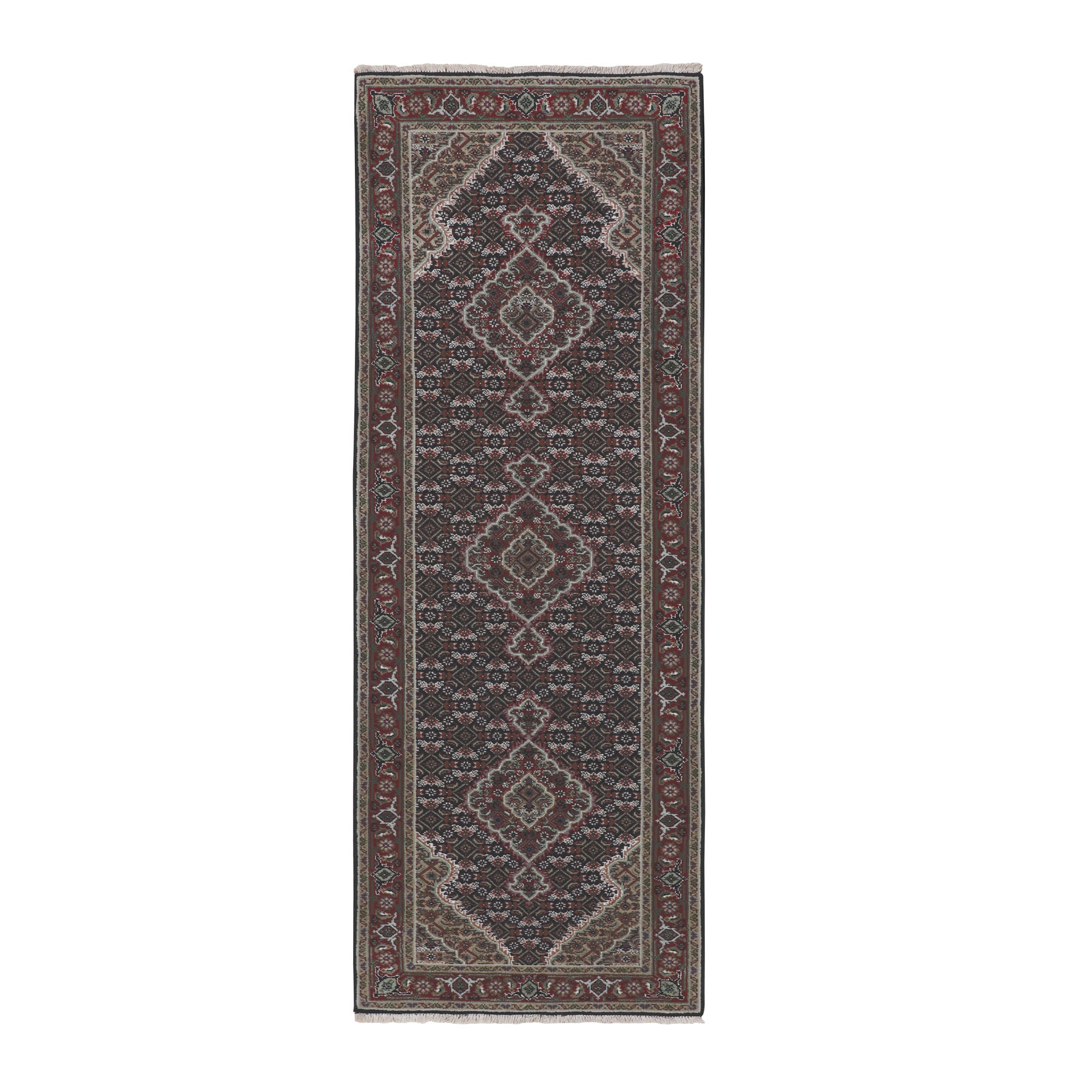 Pirniakan Collection Hand Knotted Black Rug No: 01116652