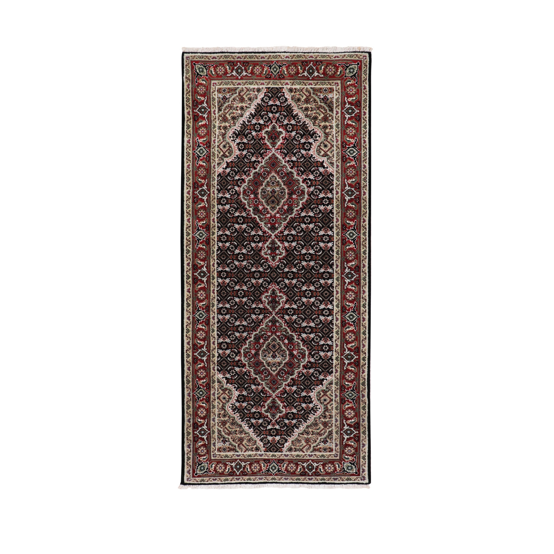 Pirniakan Collection Hand Knotted Black Rug No: 01116654