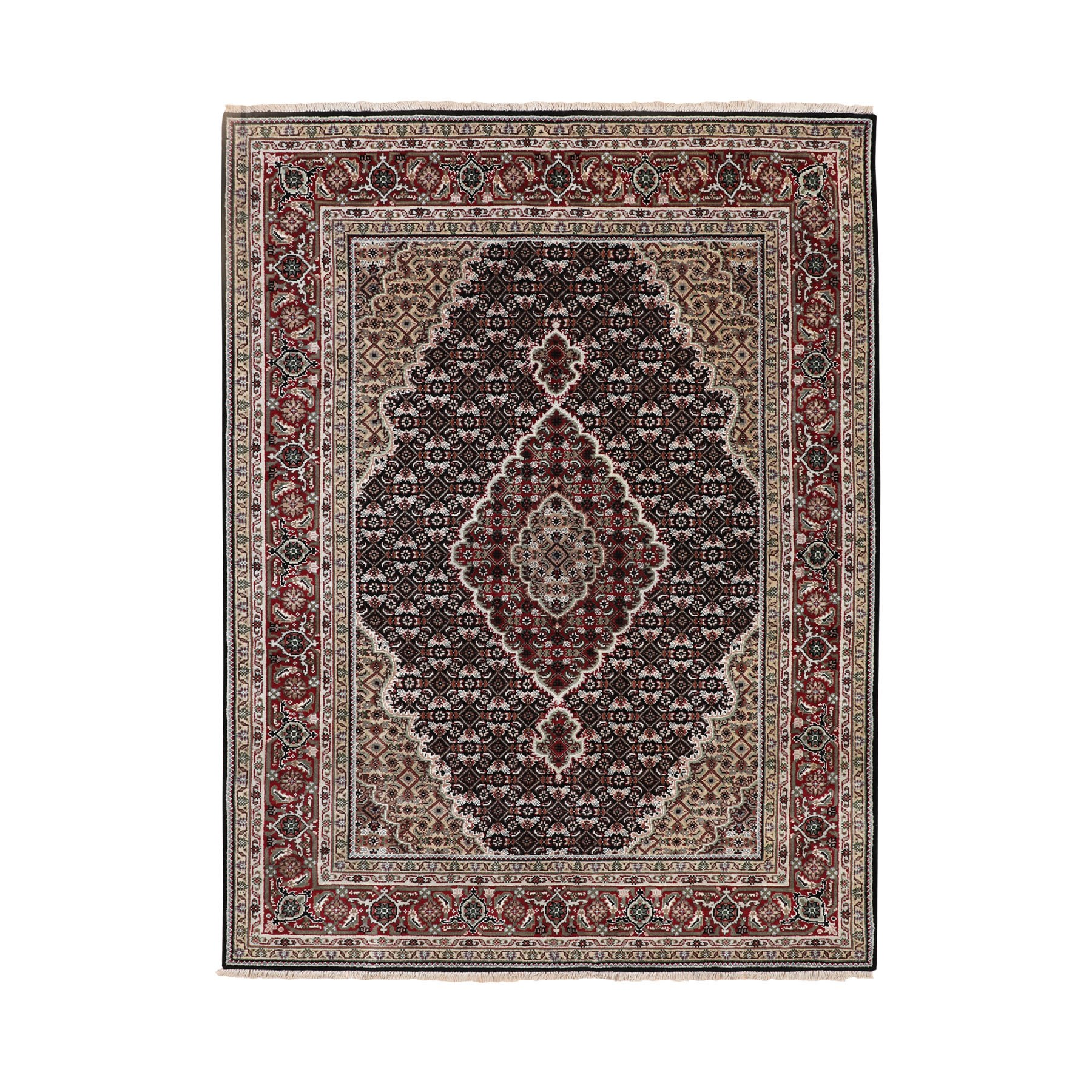 Pirniakan Collection Hand Knotted Black Rug No: 1116658