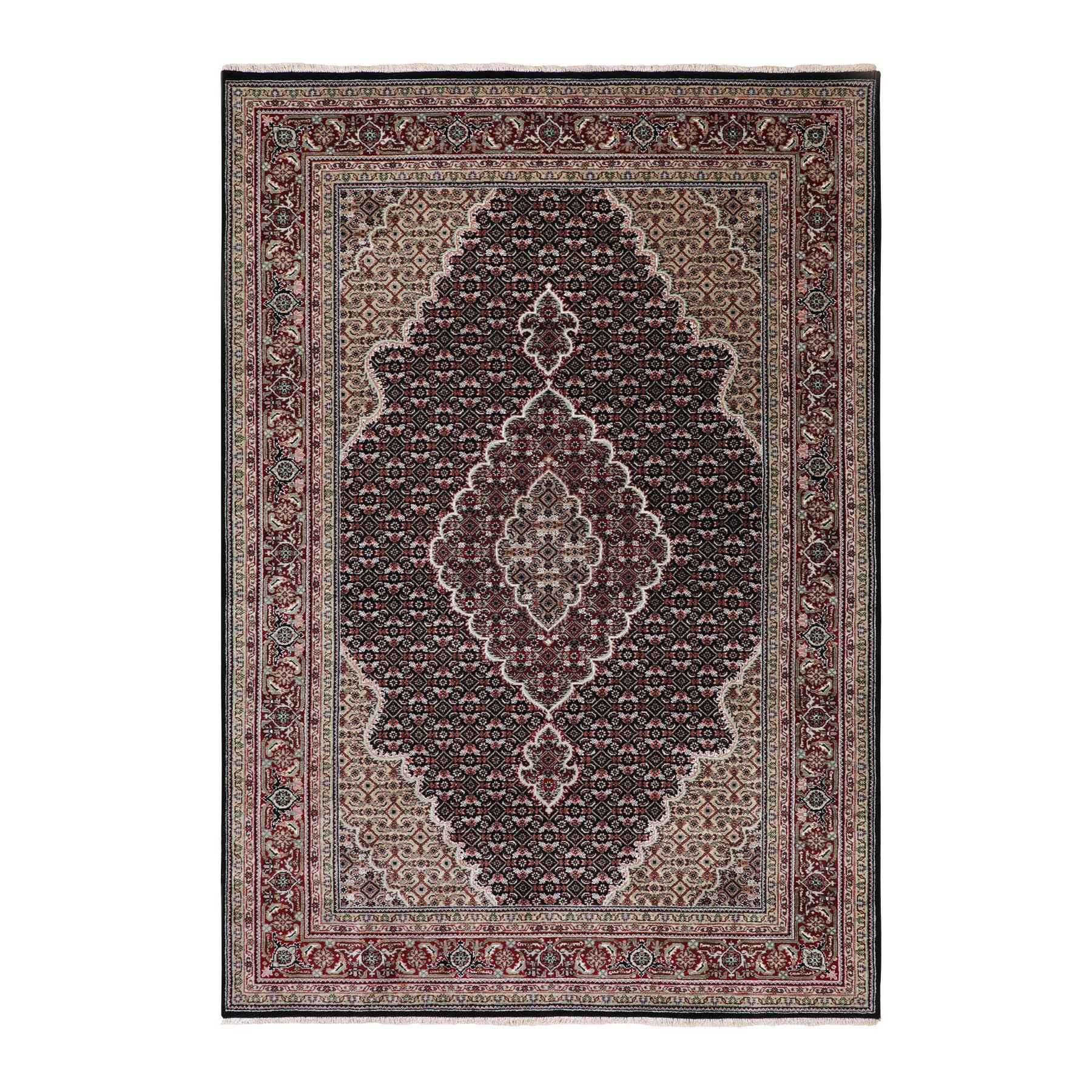 Pirniakan Collection Hand Knotted Black Rug No: 01116664