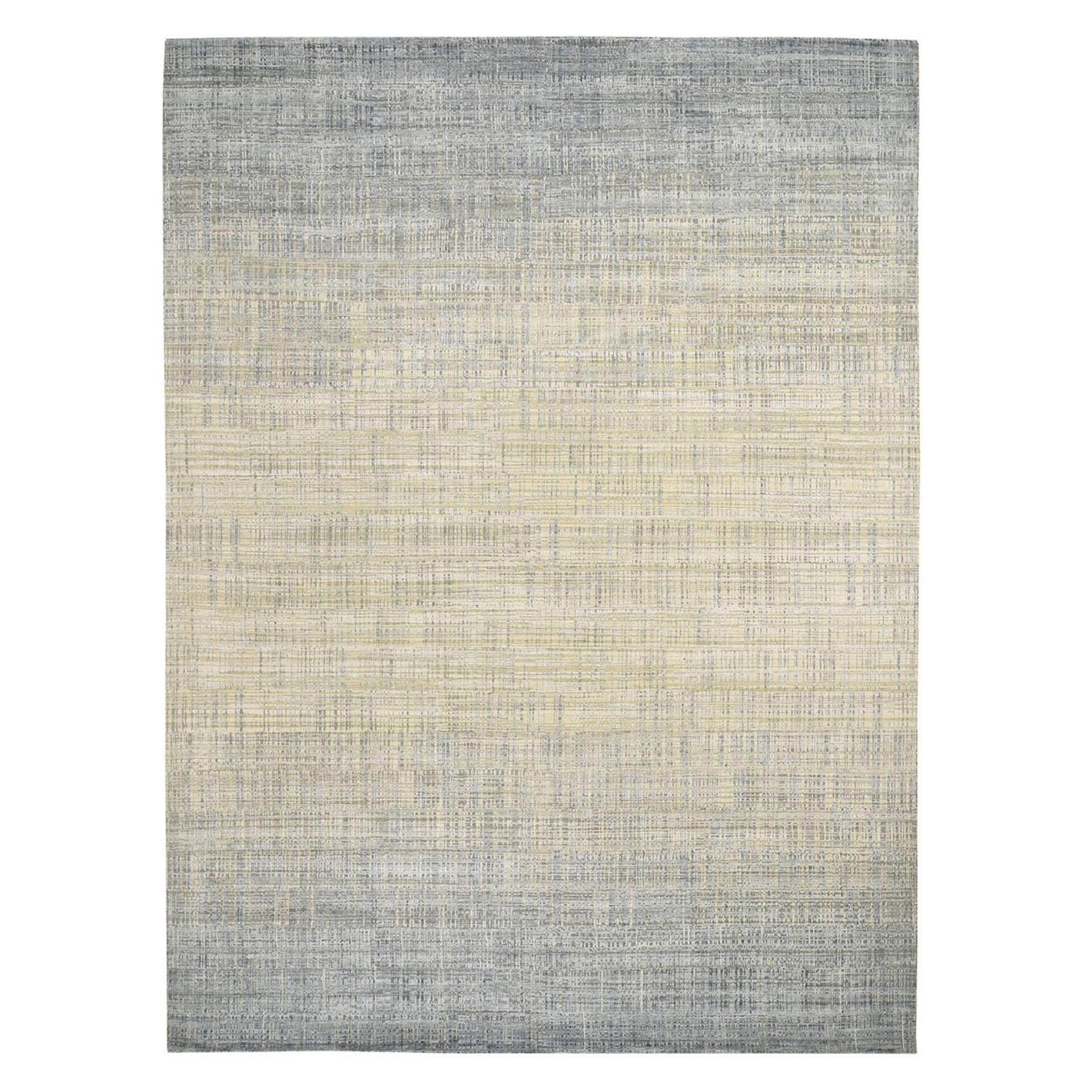 Mid Century Modern Collection Hand Knotted Ivory Rug No: 1118282
