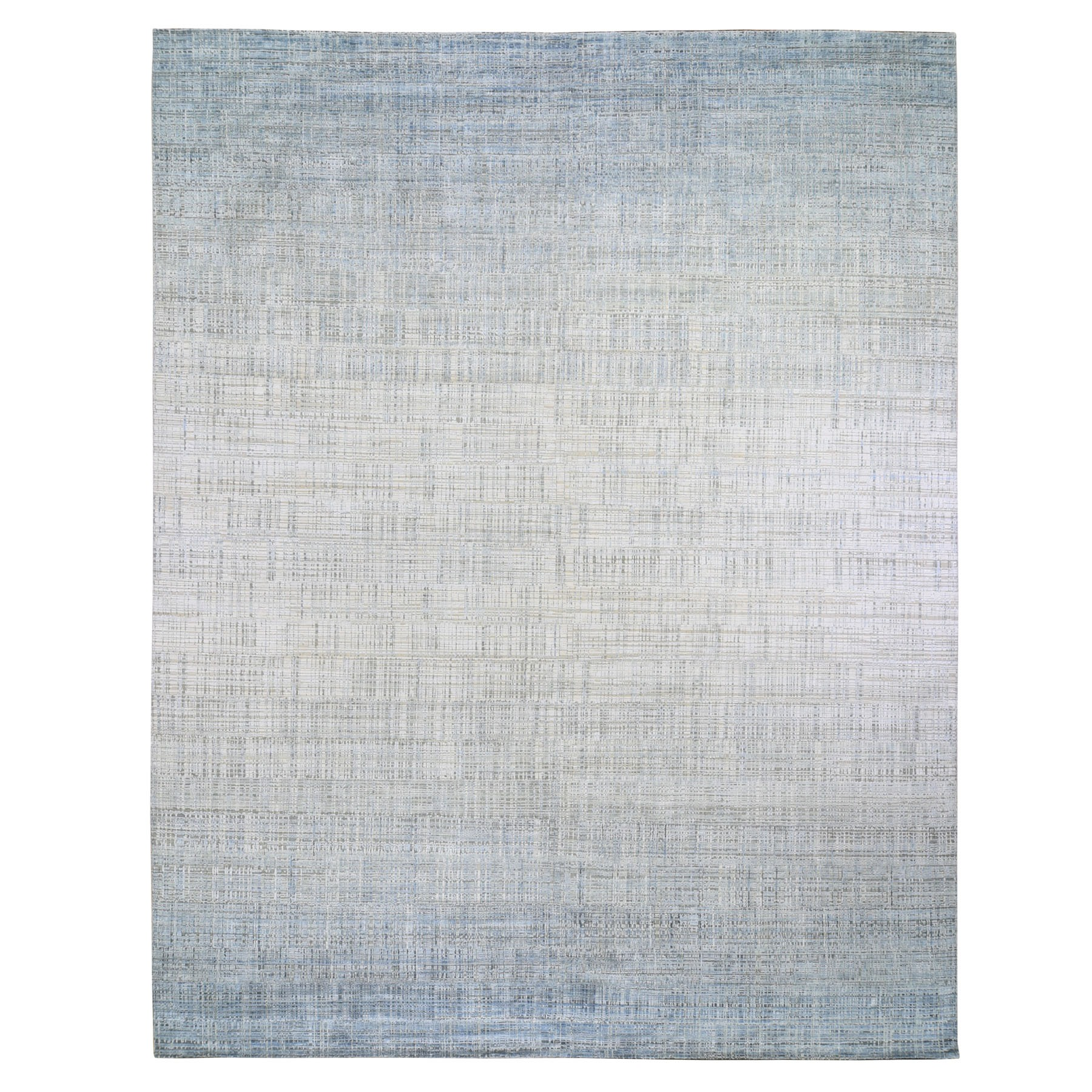 Mid Century Modern Collection Hand Knotted Ivory Rug No: 1118310