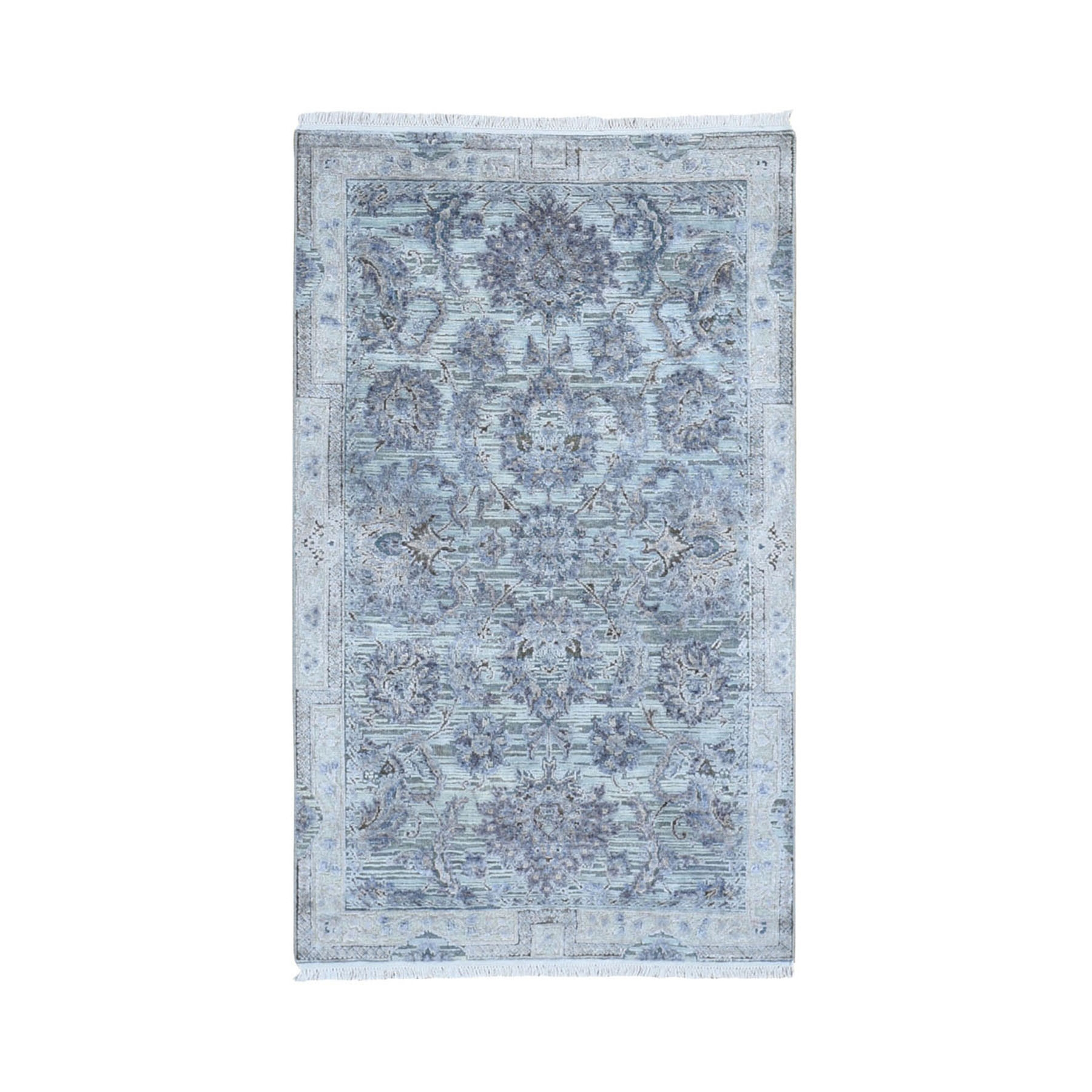 Transitional Hand Knotted Grey Rug No: 1118338