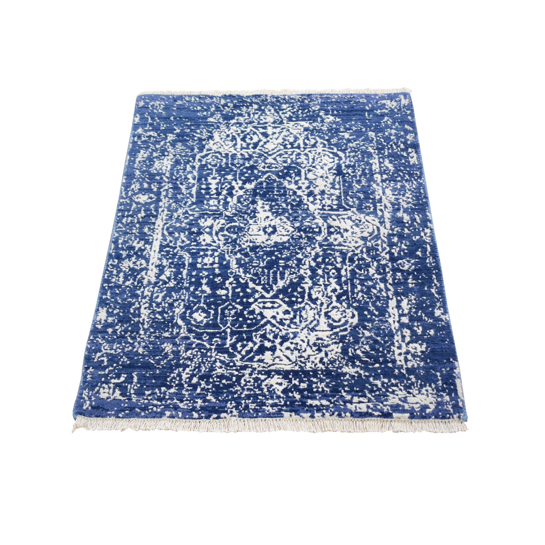 Transitional Hand Knotted Blue Rug No: 1118256