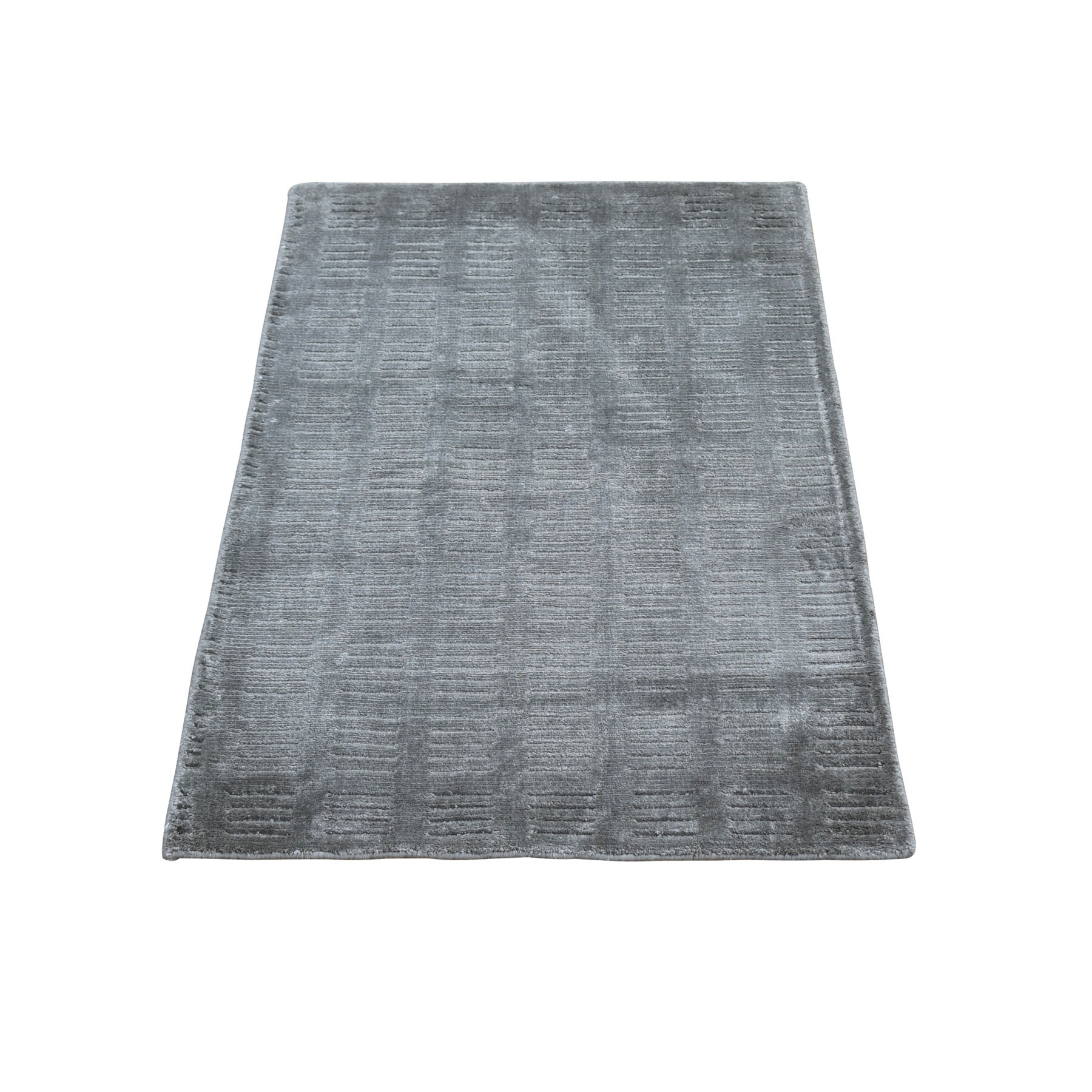 Mid Century Modern Collection Hand Loomed Grey Rug No: 1118270