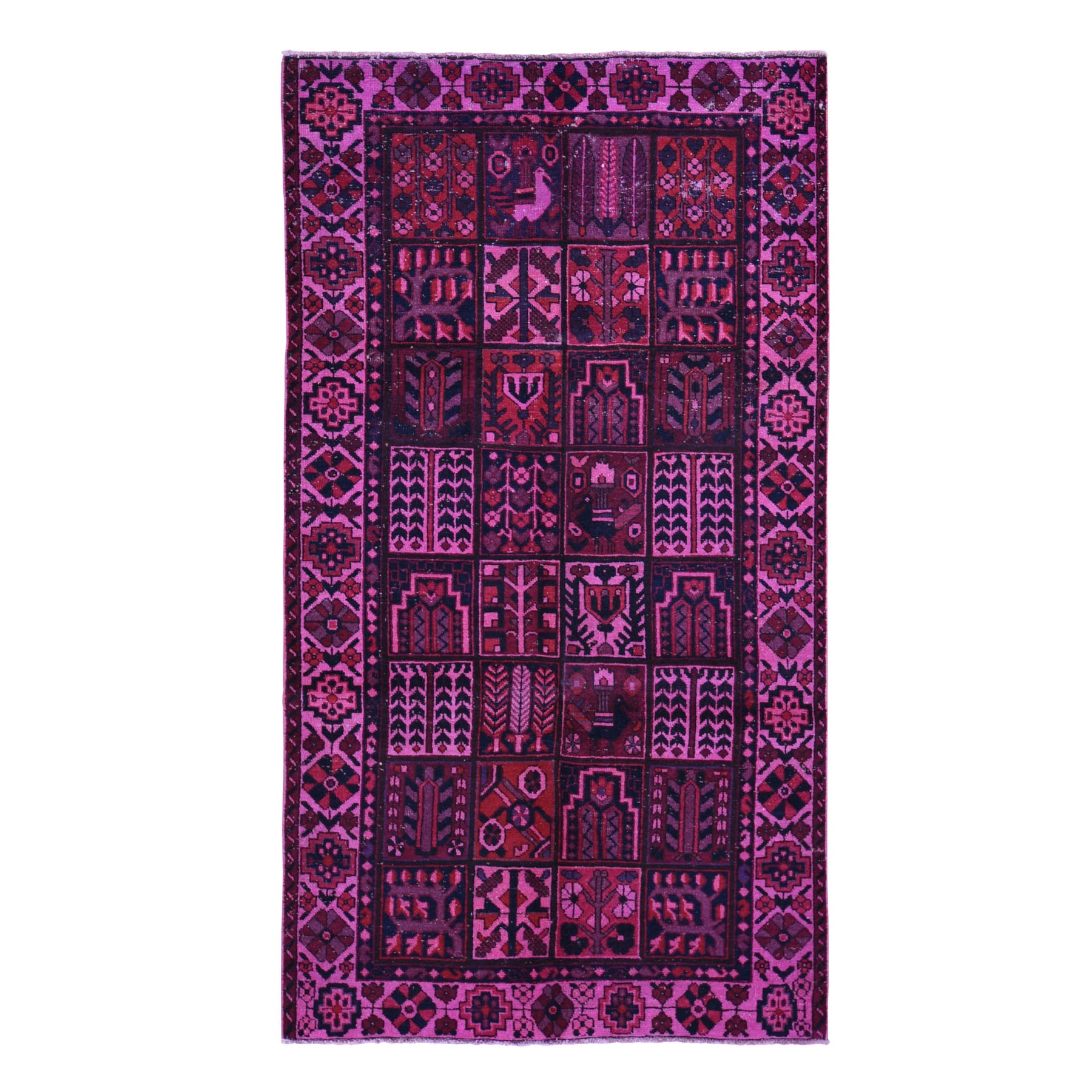Fetneh Collection And Vintage Overdyed Collection Hand Knotted Pink Rug No: 01118372