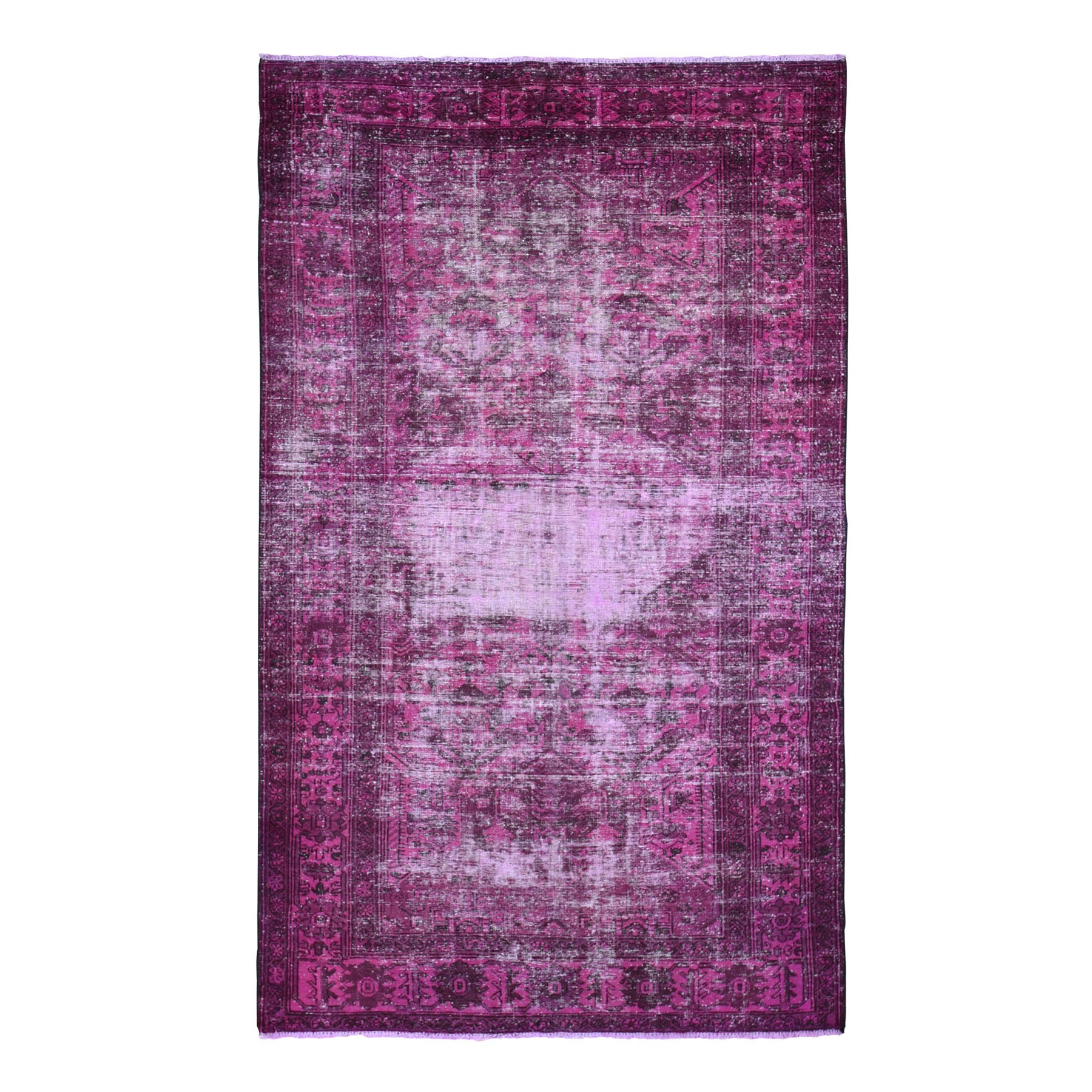 Fetneh Collection And Vintage Overdyed Collection Hand Knotted Pink Rug No: 01118382