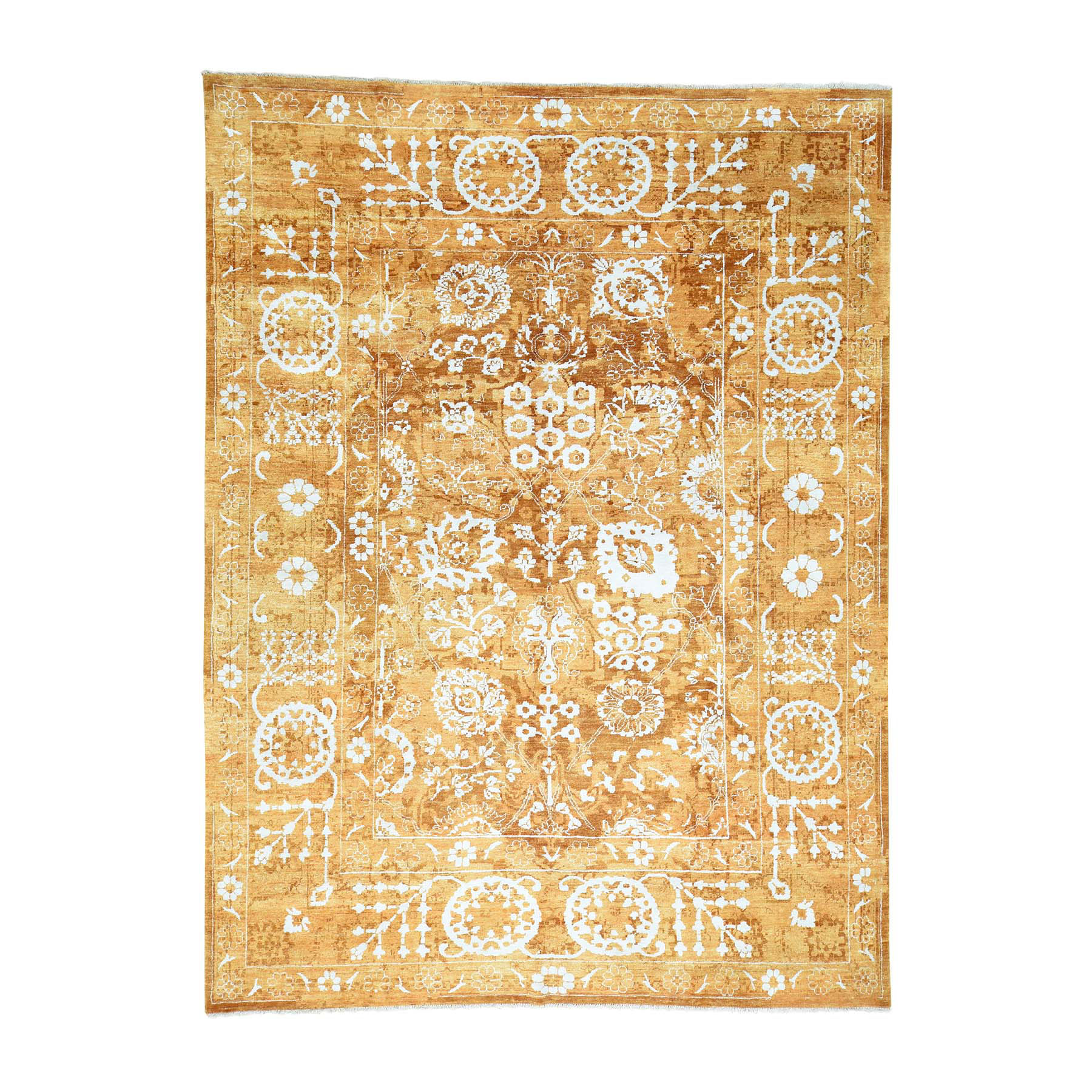 Pirniakan Collection Hand Knotted Orange Rug No: 0164892