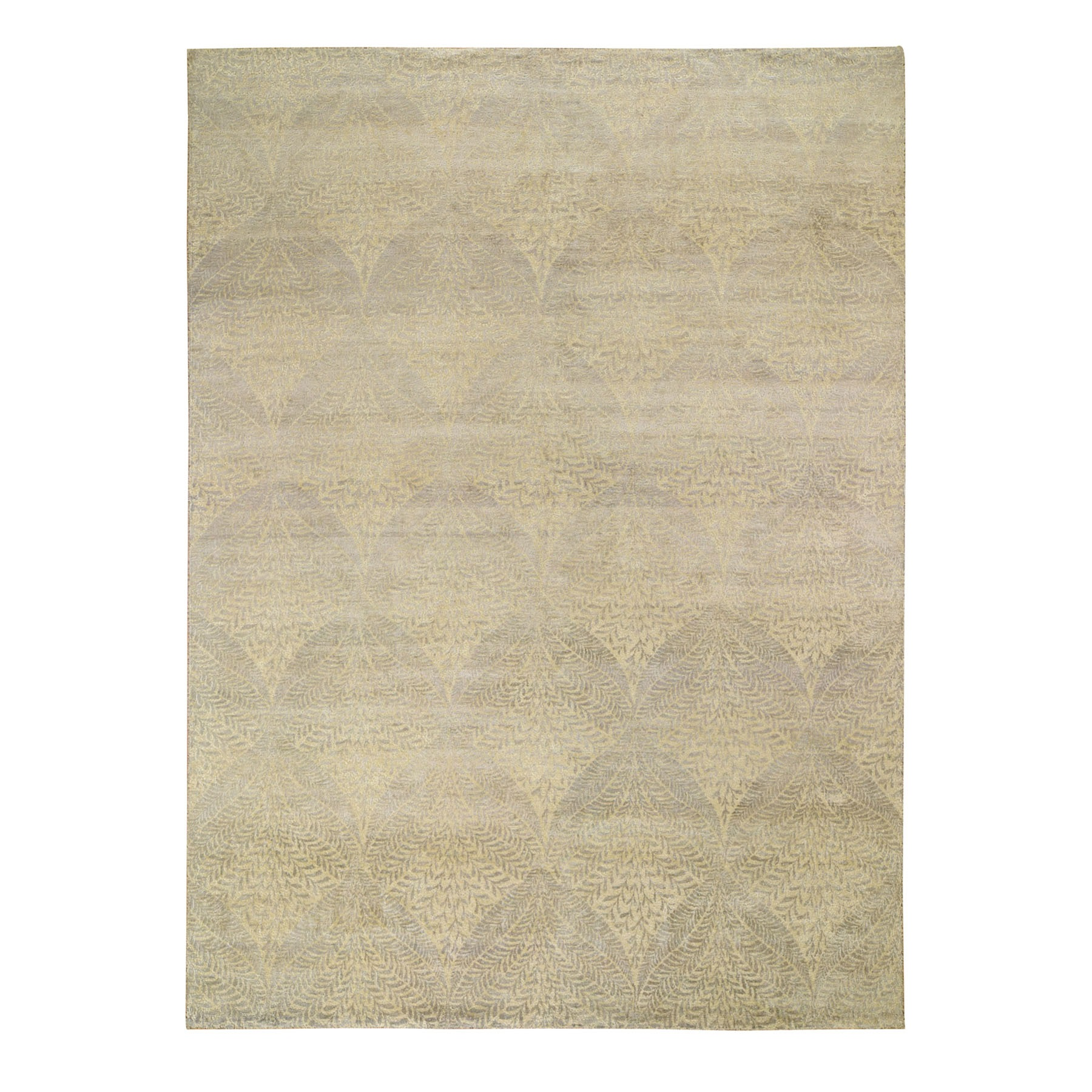 Transitional Hand Knotted Grey Rug No: 197116
