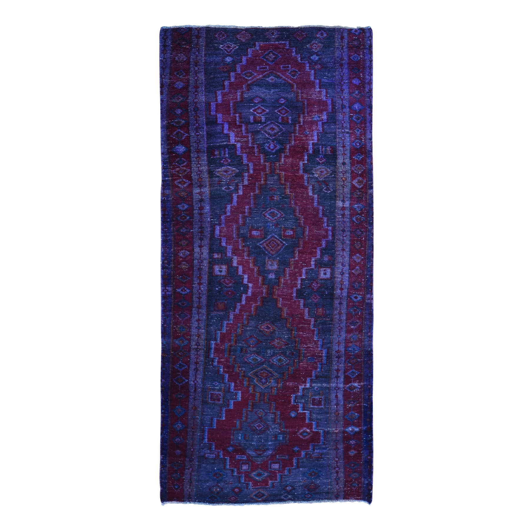 Fetneh Collection And Vintage Overdyed Collection Hand Knotted Red Rug No: 1118422