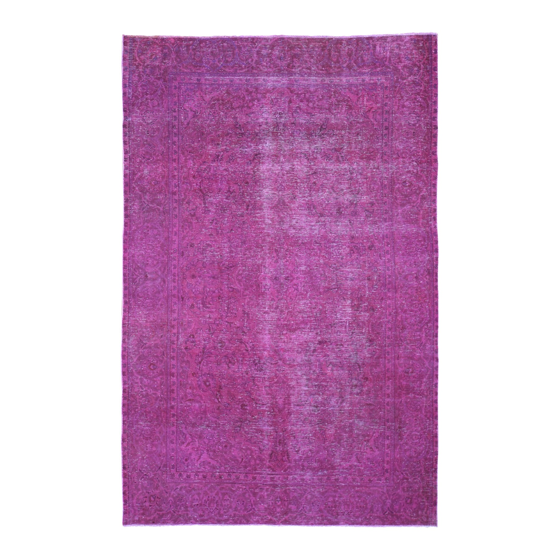 Fetneh Collection And Vintage Overdyed Collection Hand Knotted Pink Rug No: 1118416