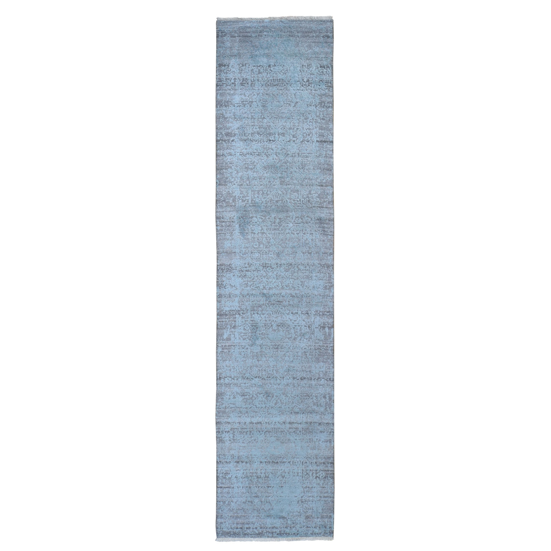Transitional Hand Knotted Blue Rug No: 1118436