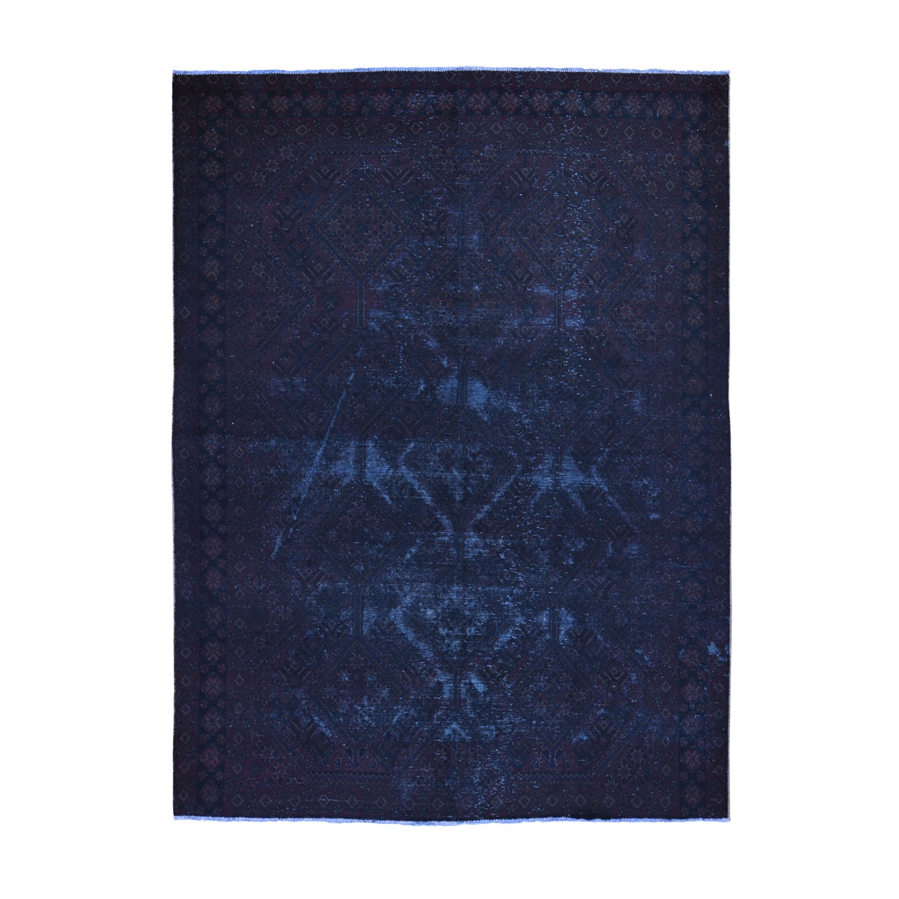 Fetneh Collection And Vintage Overdyed Collection Hand Knotted Brown Rug No: 1118440