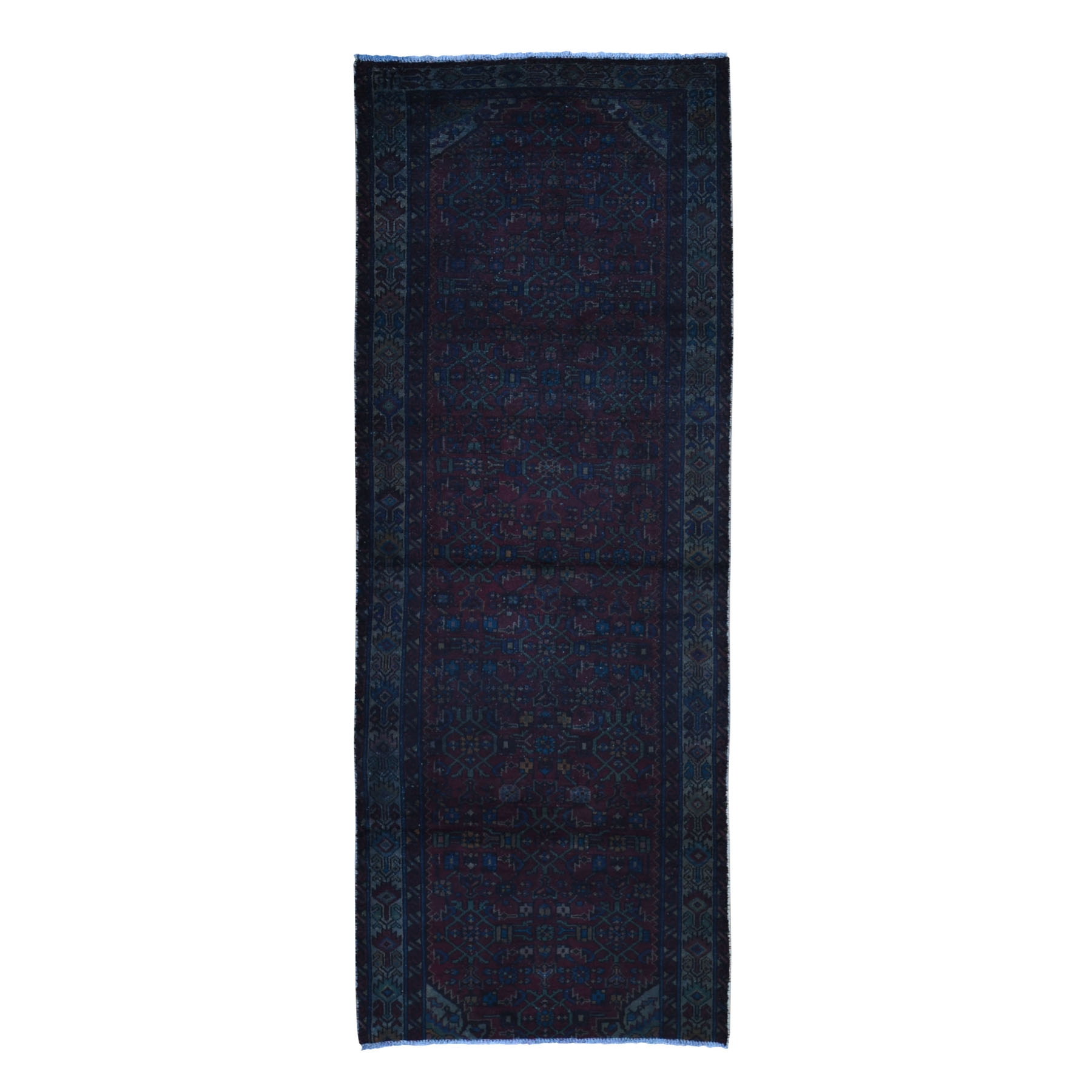 Fetneh Collection And Vintage Overdyed Collection Hand Knotted Red Rug No: 1118420