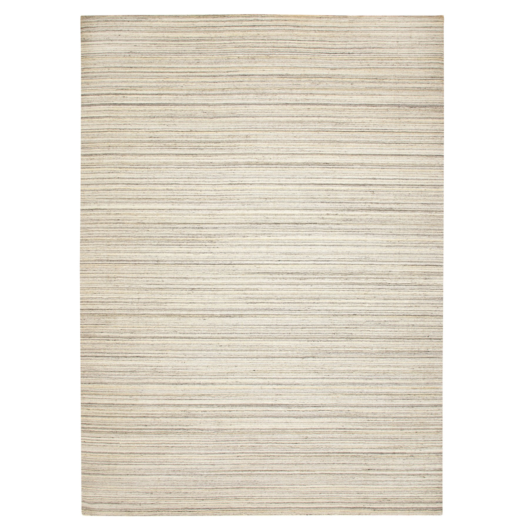Mid Century Modern Collection Hand Loomed Beige Rug No: 1116750