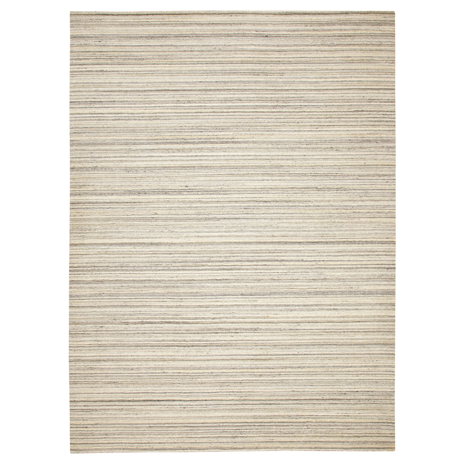 Mid Century Modern Collection Hand Loomed Beige Rug No: 1116730