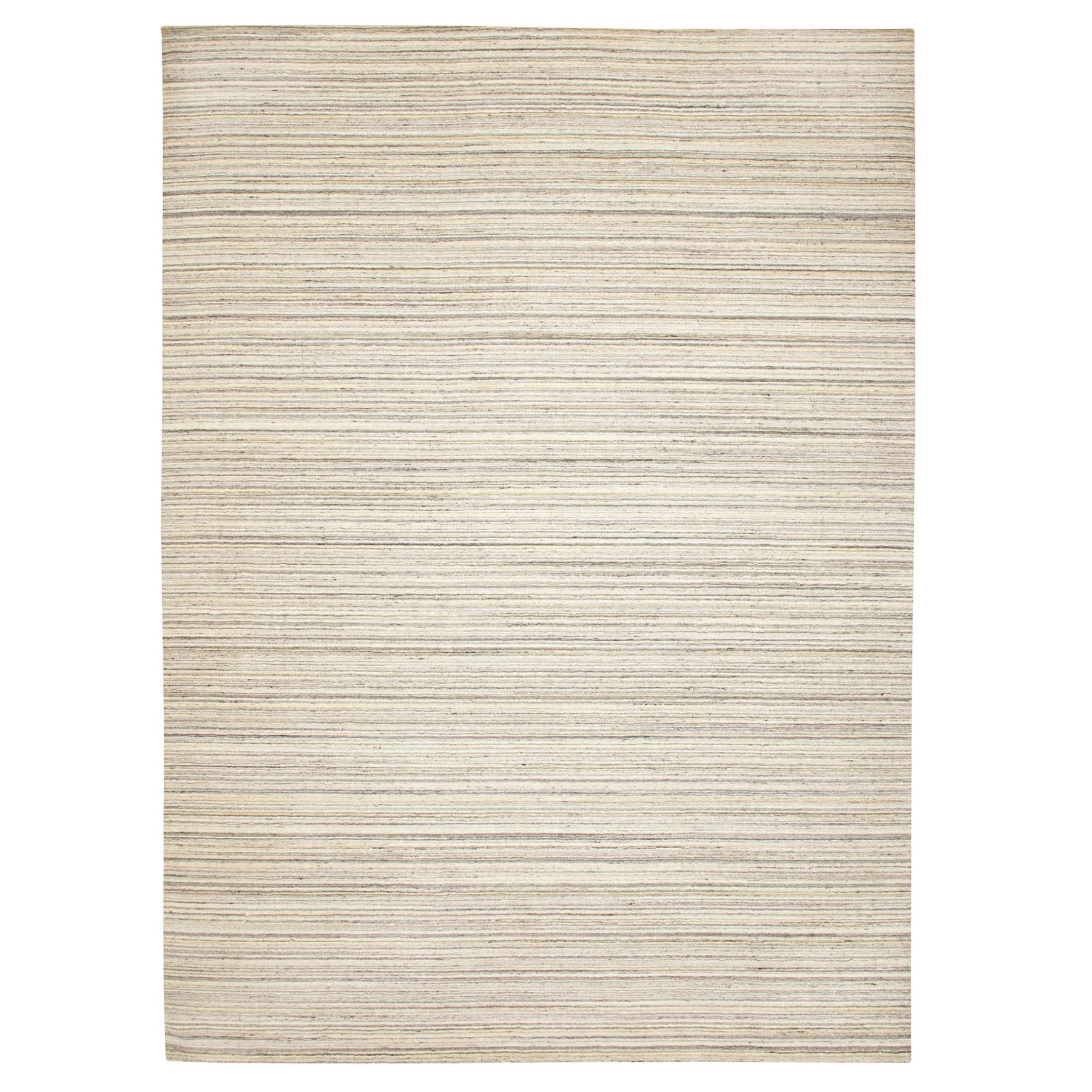 Mid Century Modern Collection Hand Loomed Beige Rug No: 1116732