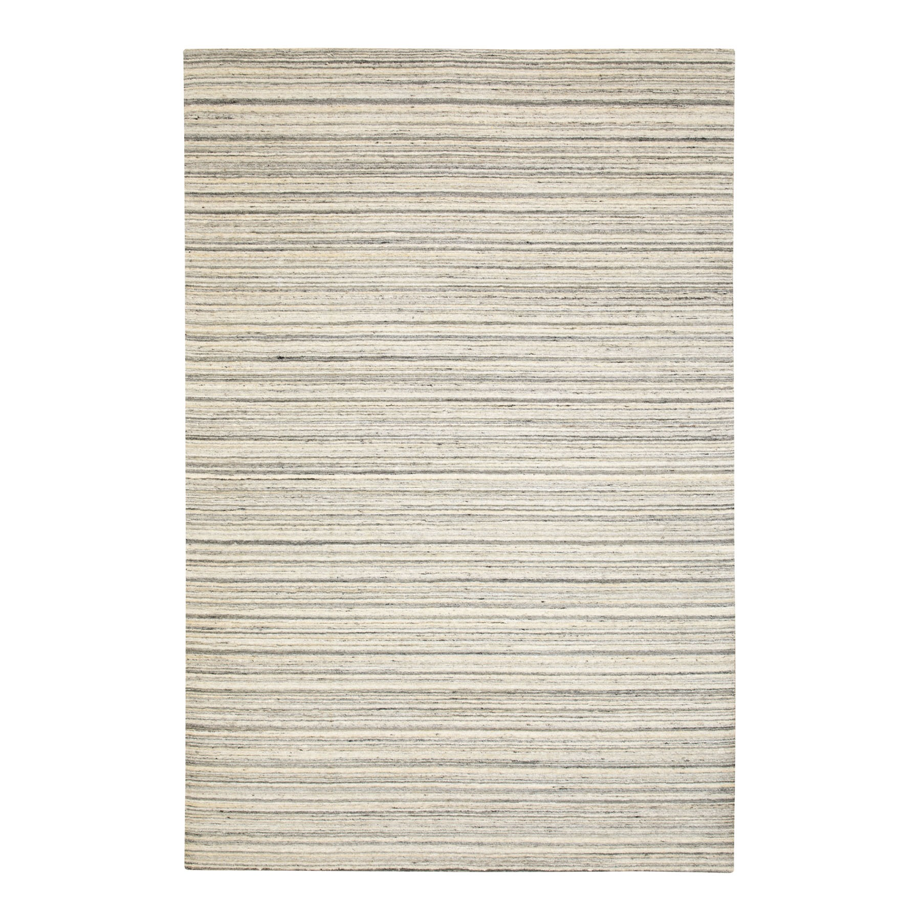 Mid Century Modern Collection Hand Loomed Beige Rug No: 1116740