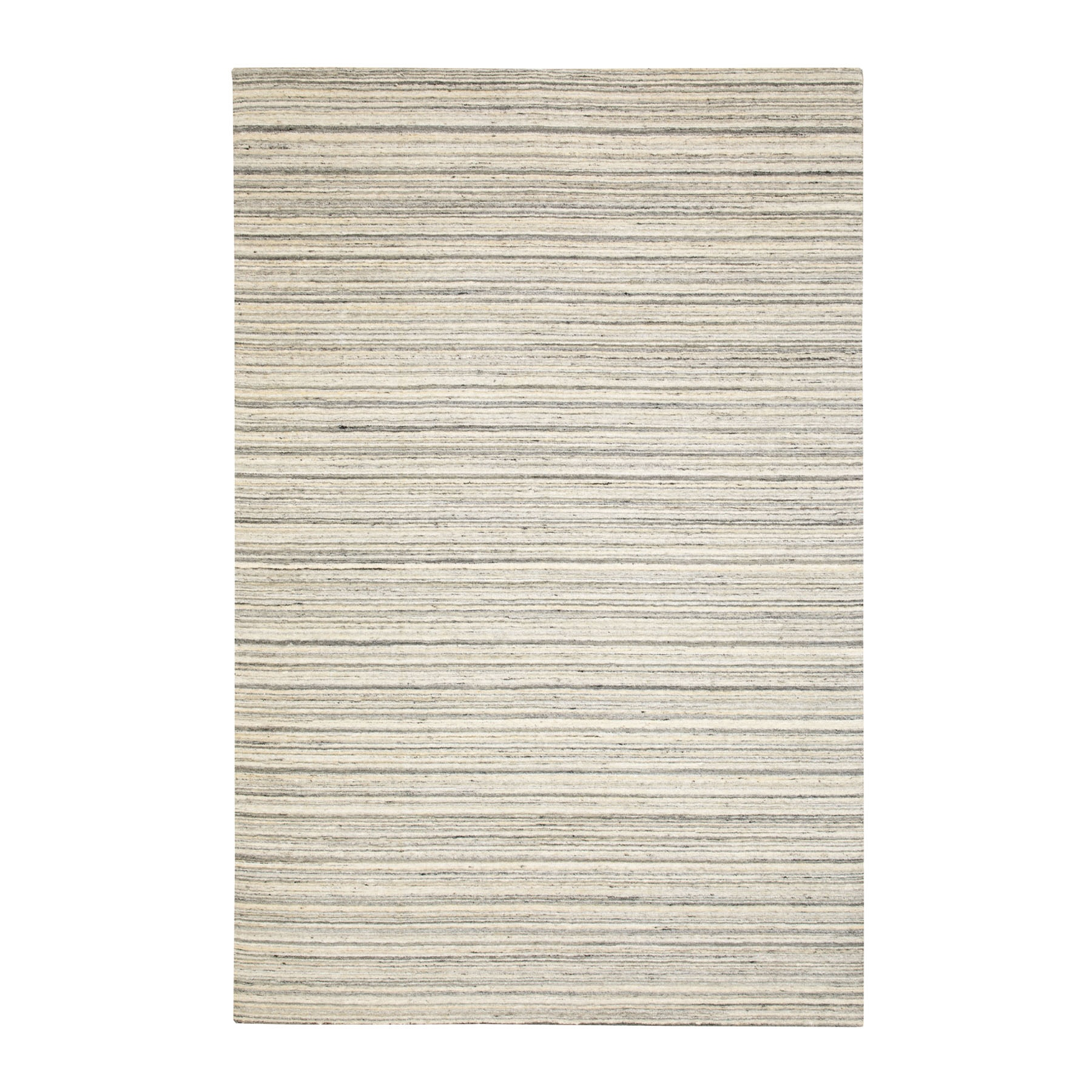 Mid Century Modern Collection Hand Loomed Beige Rug No: 1116754