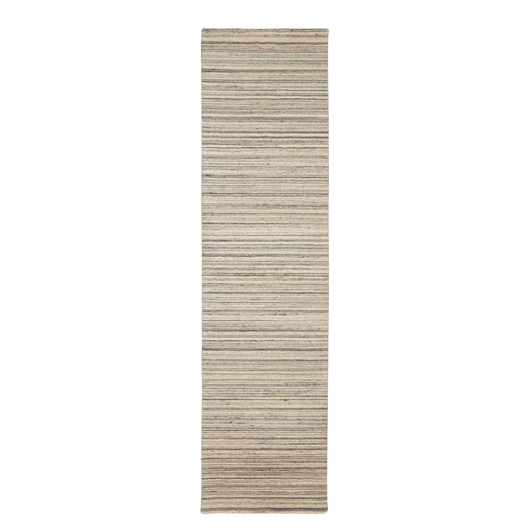 Mid Century Modern Collection Hand Loomed Beige Rug No: 1116764