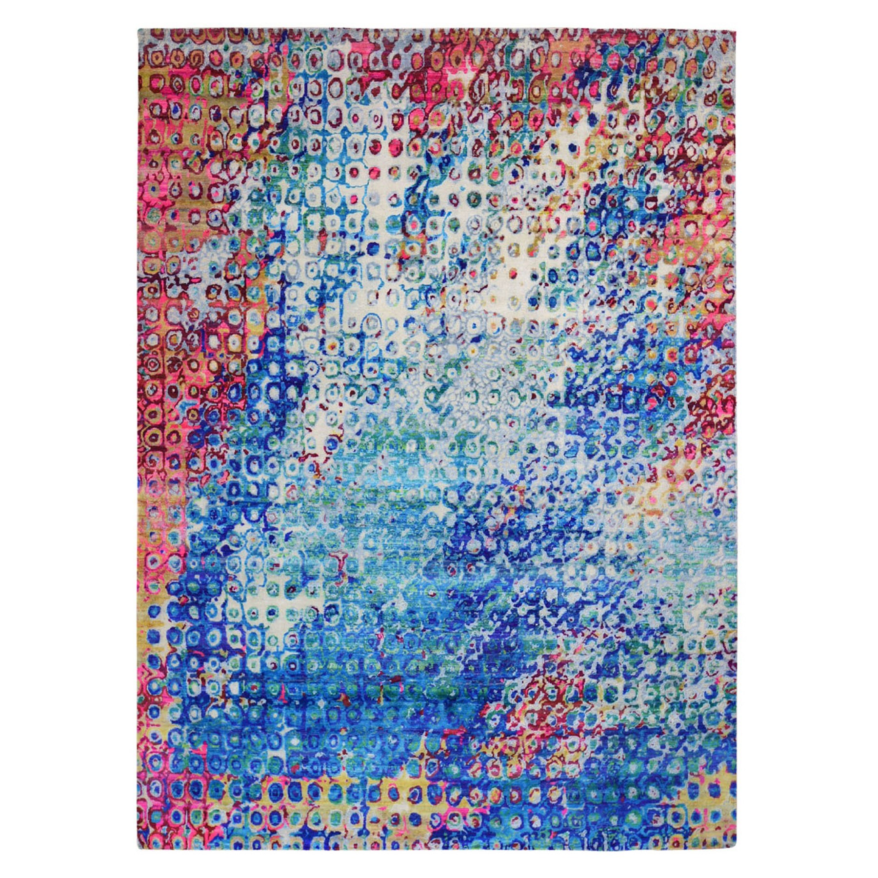 Transitional Hand Knotted Blue Rug No: 1118502