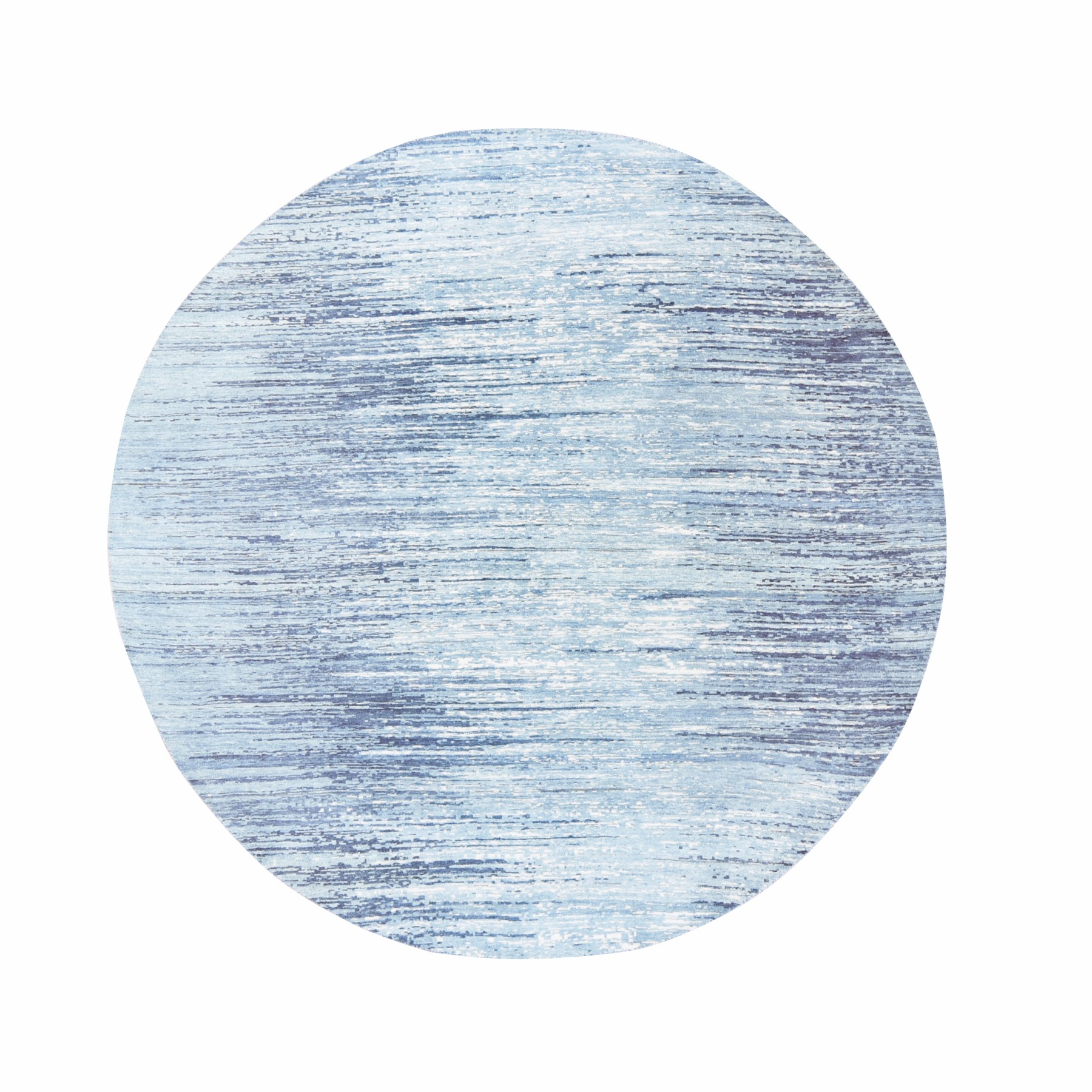 Mid Century Modern Collection Hand Knotted Blue Rug No: 1118462