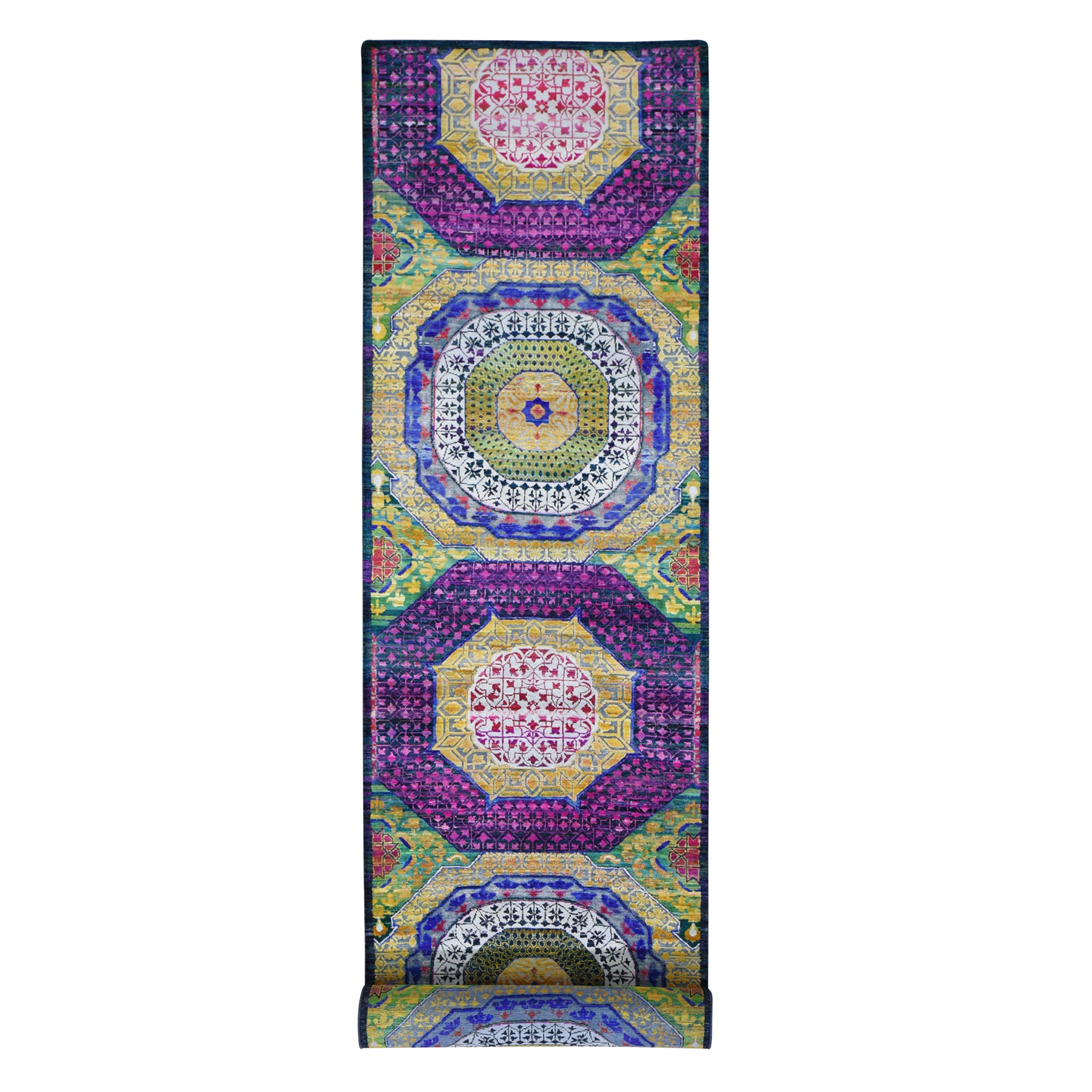 Intricate Collection Hand Knotted Yellow Rug No: 1118470