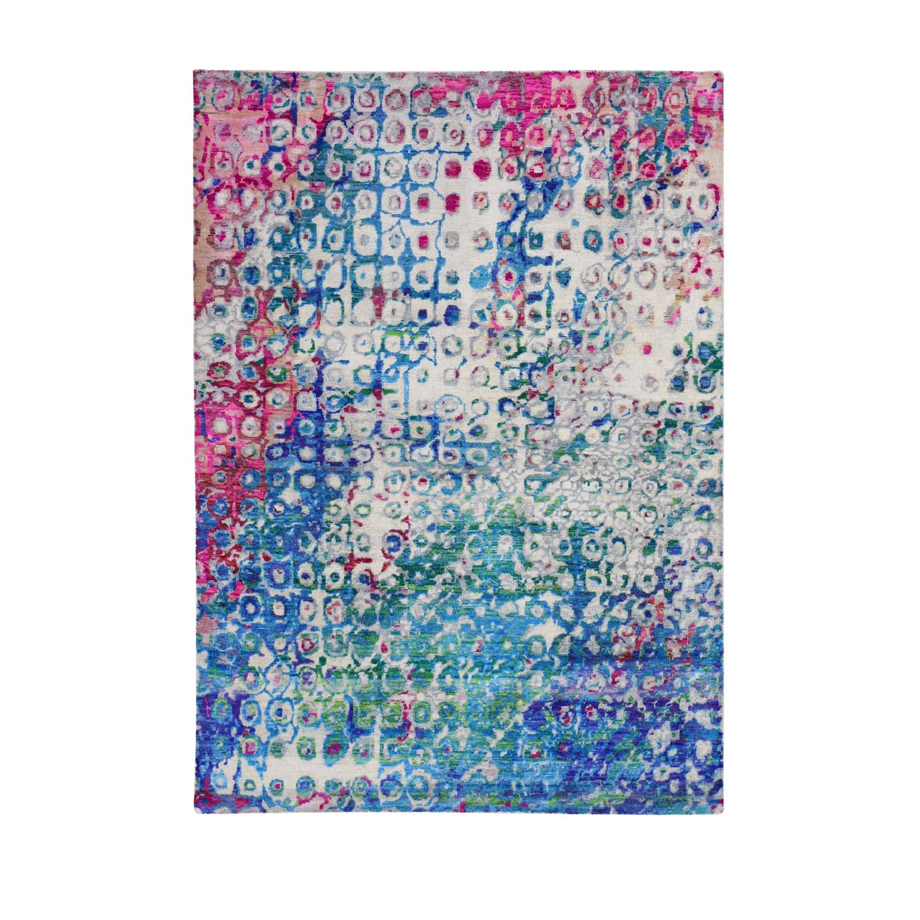 Transitional Hand Knotted Blue Rug No: 1118488