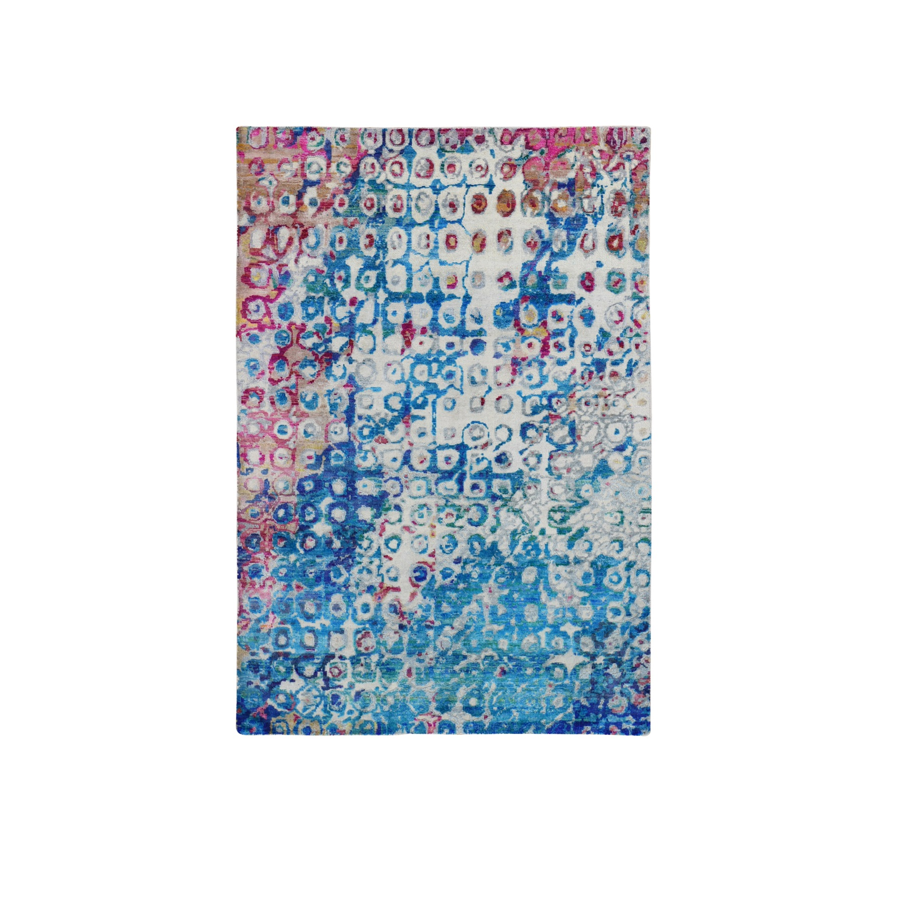 Transitional Hand Knotted Blue Rug No: 1118490