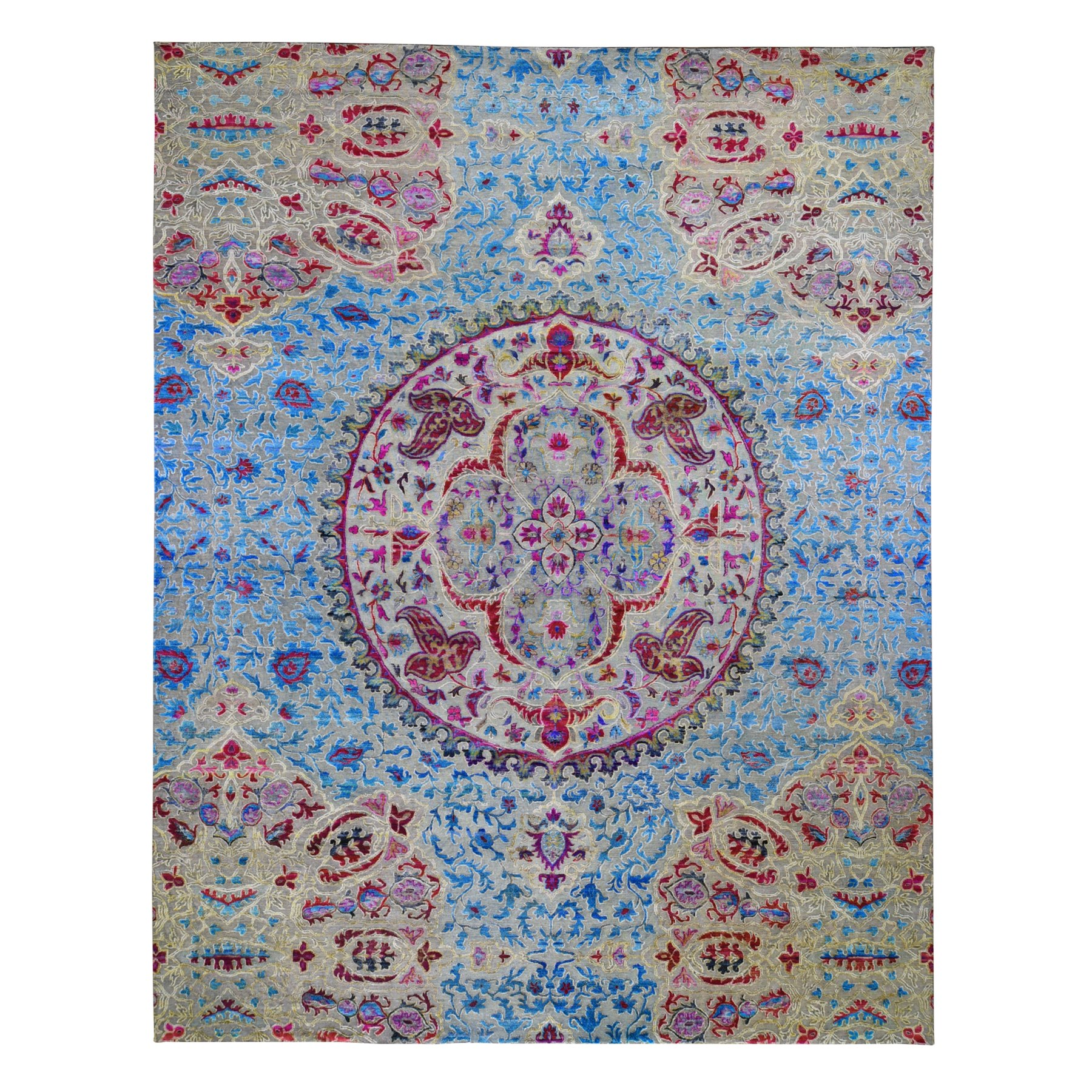 Transitional Hand Knotted Grey Rug No: 01118528