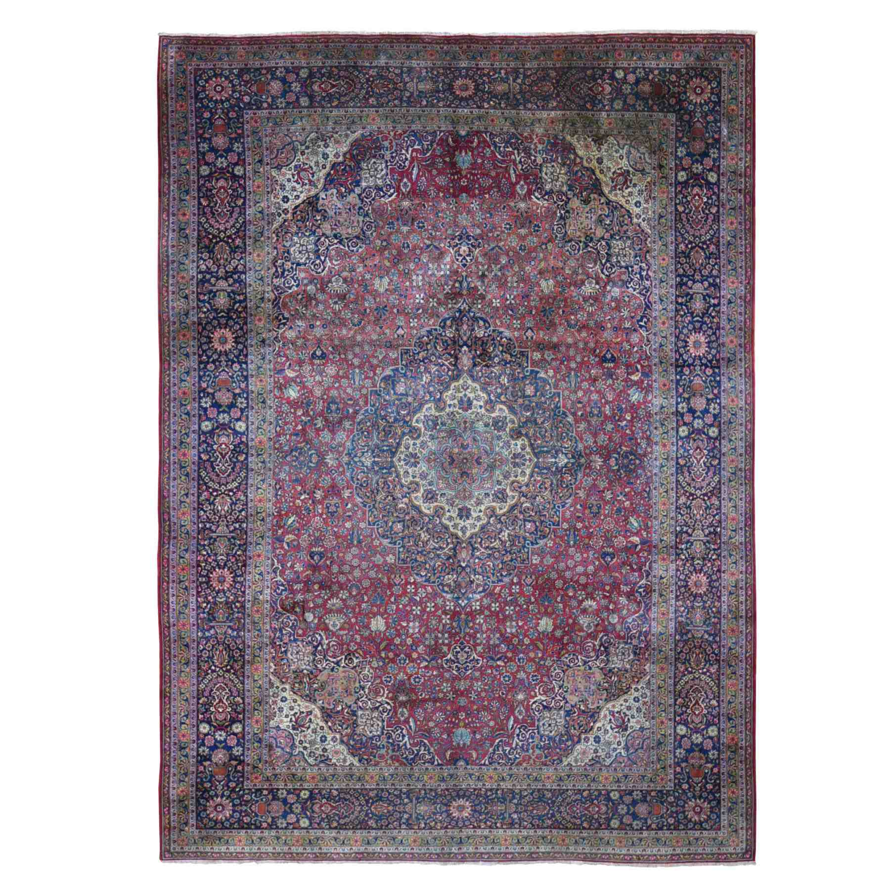 Antique Collection Hand Knotted Red Rug No: 01118580