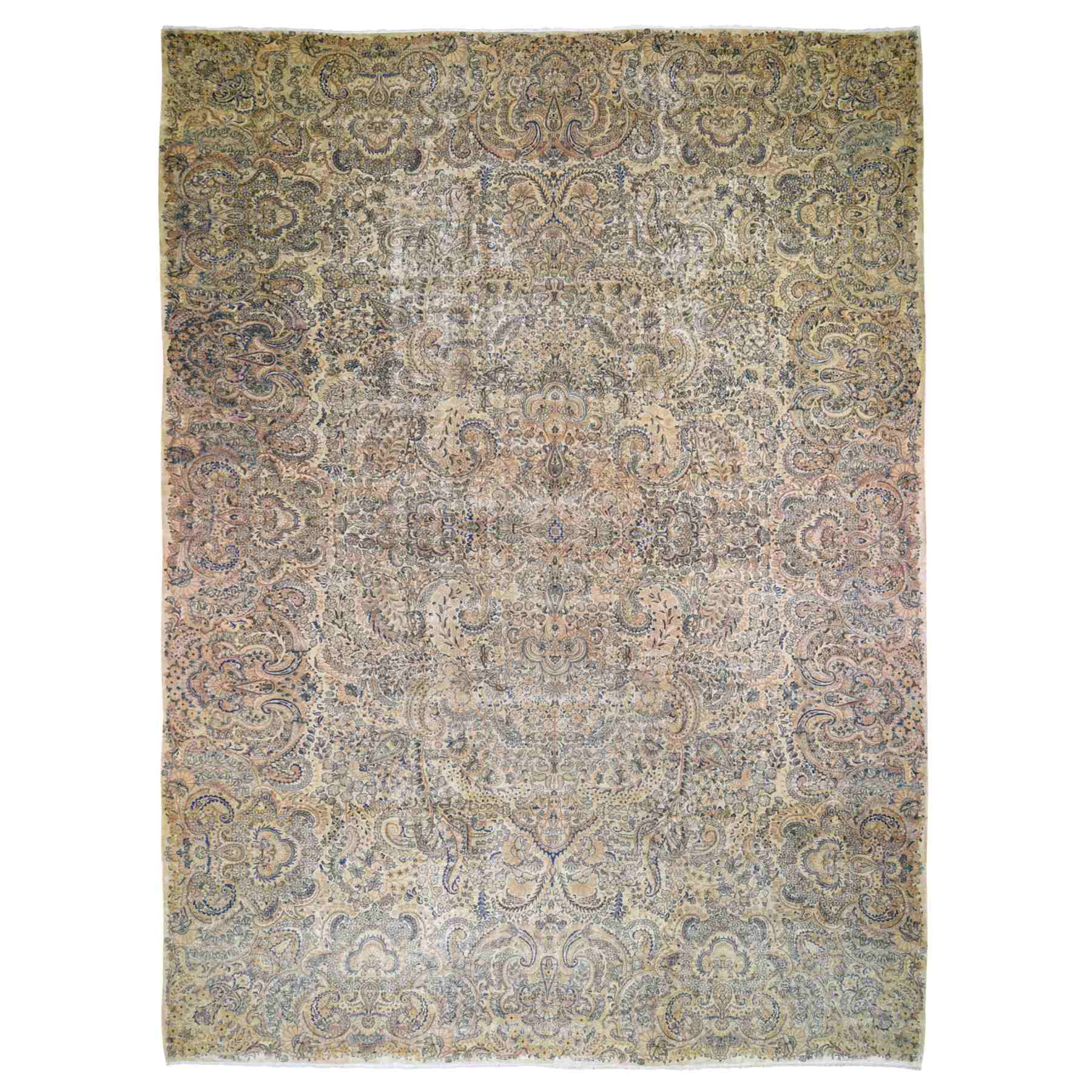 Antique Collection Hand Knotted Beige Rug No: 1118568
