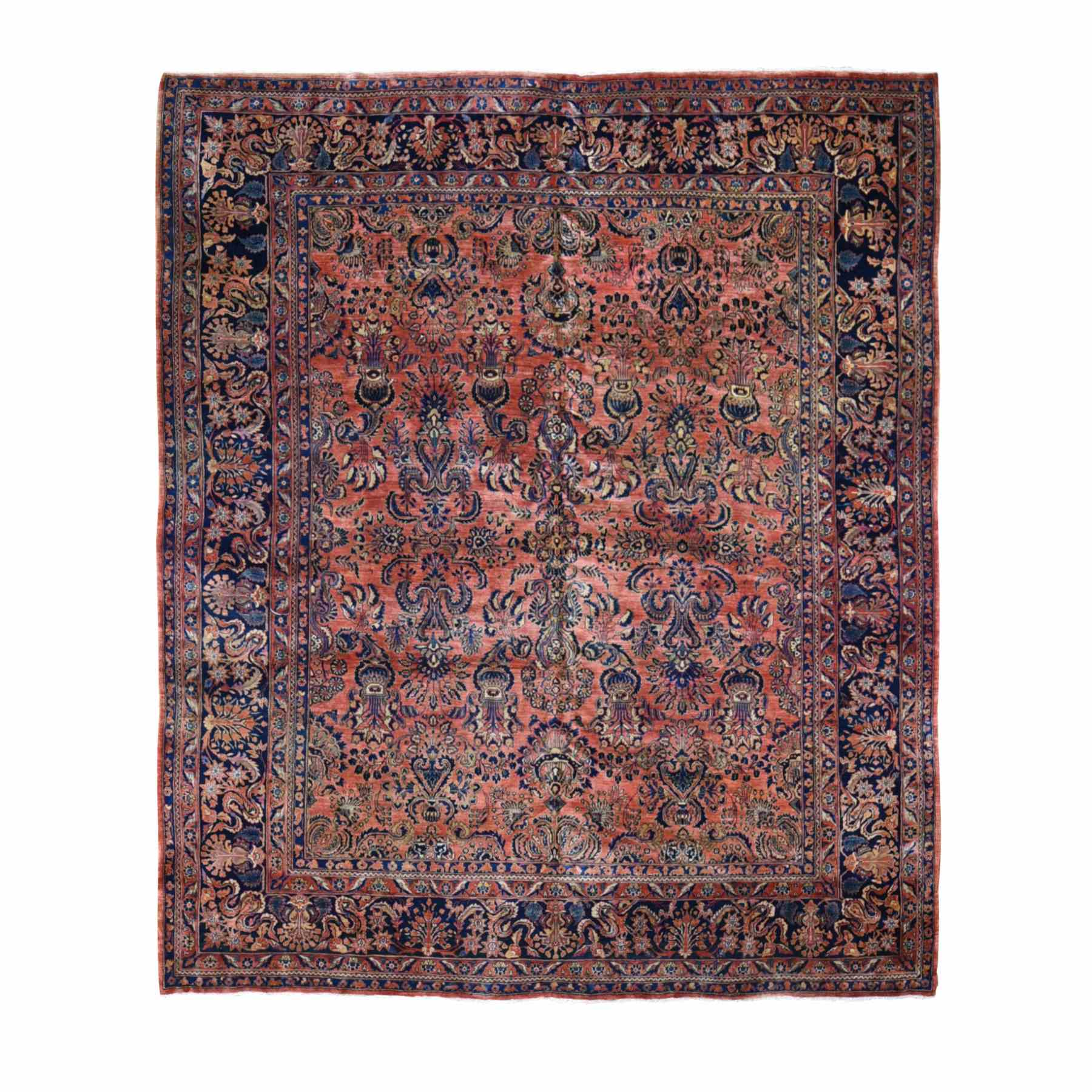 Antique Collection Hand Knotted Red Rug No: 1118570