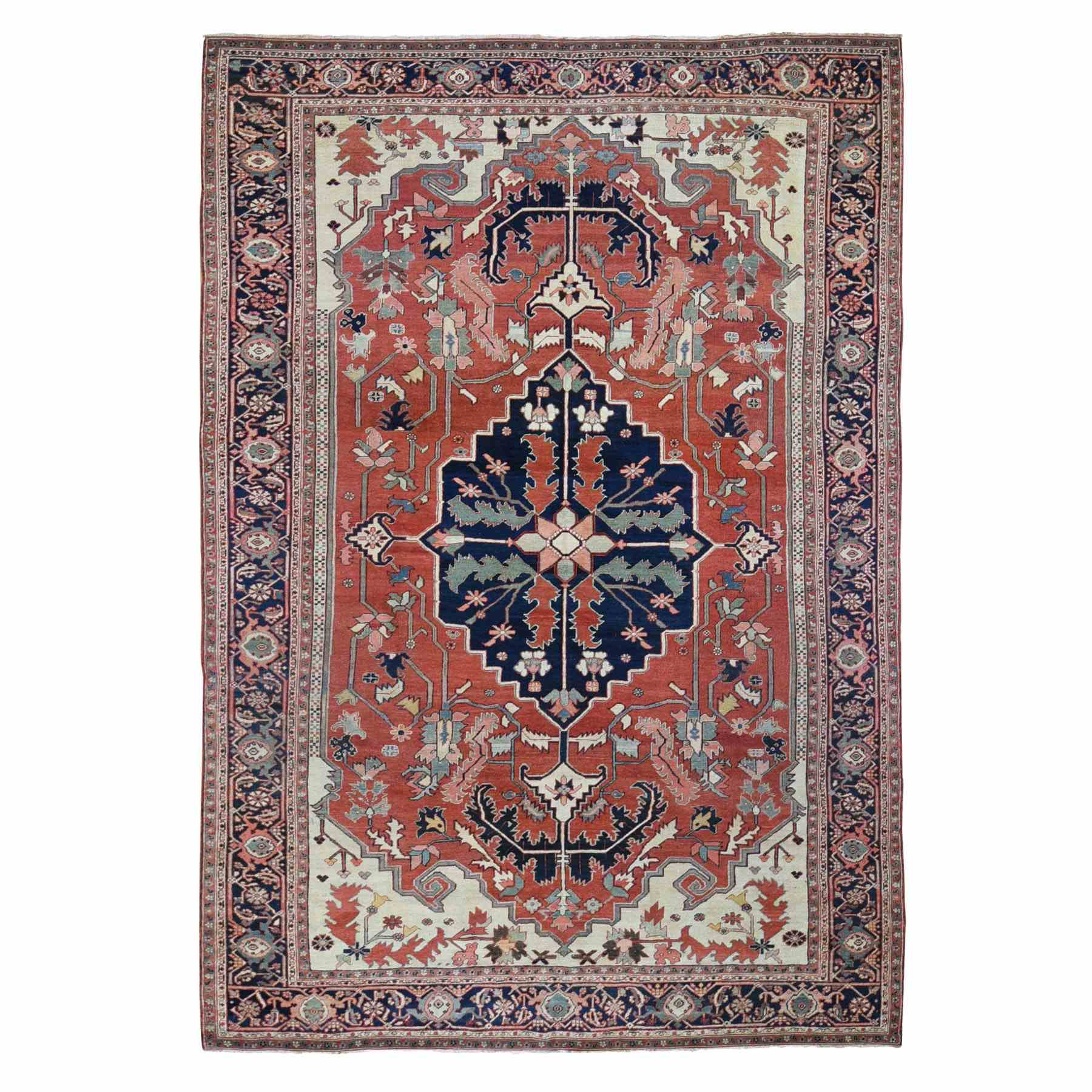 Antique Collection Hand Knotted Red Rug No: 1118574